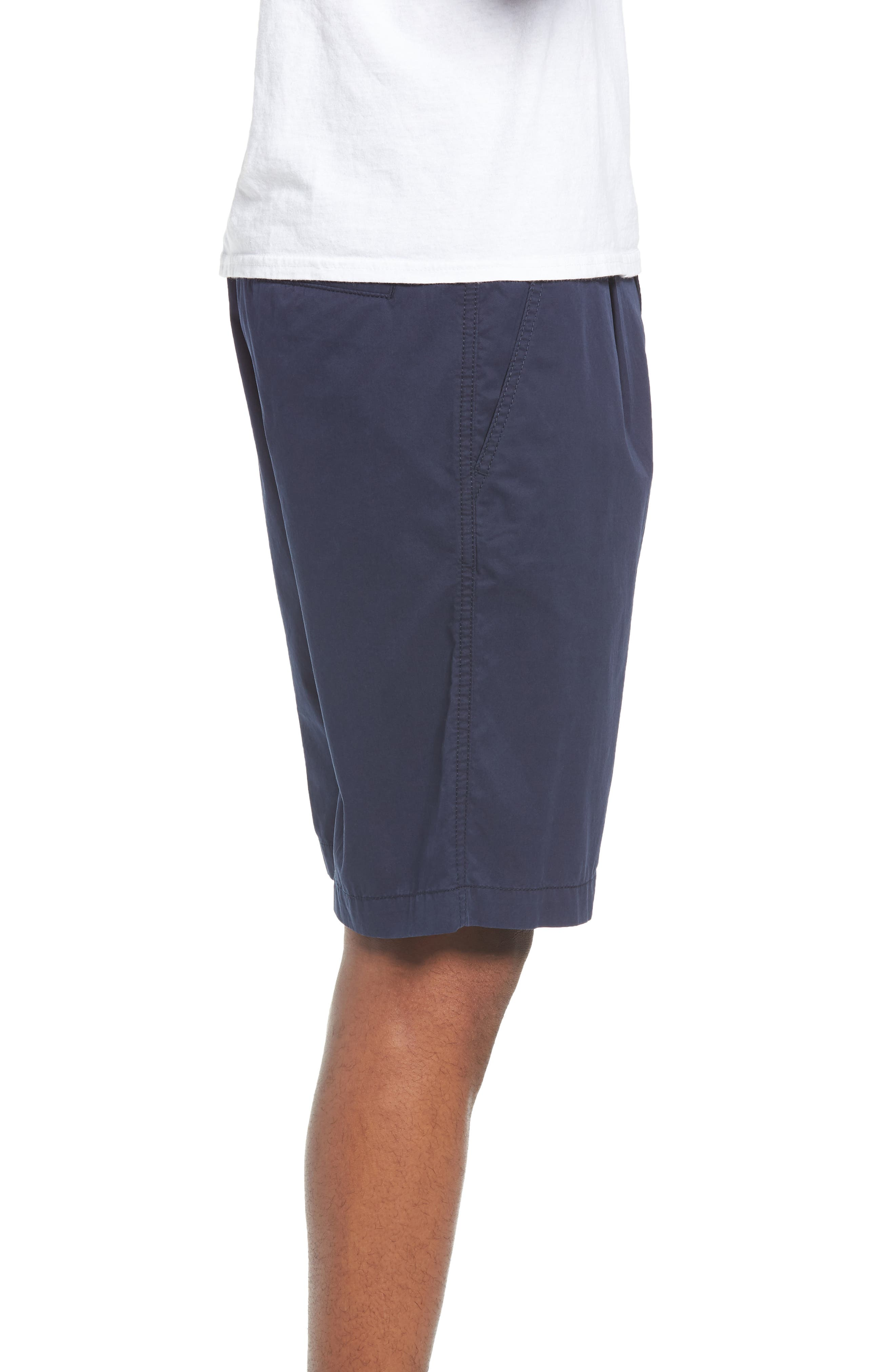 Pleated Chino Shorts,                             Alternate thumbnail 3, color,                             410