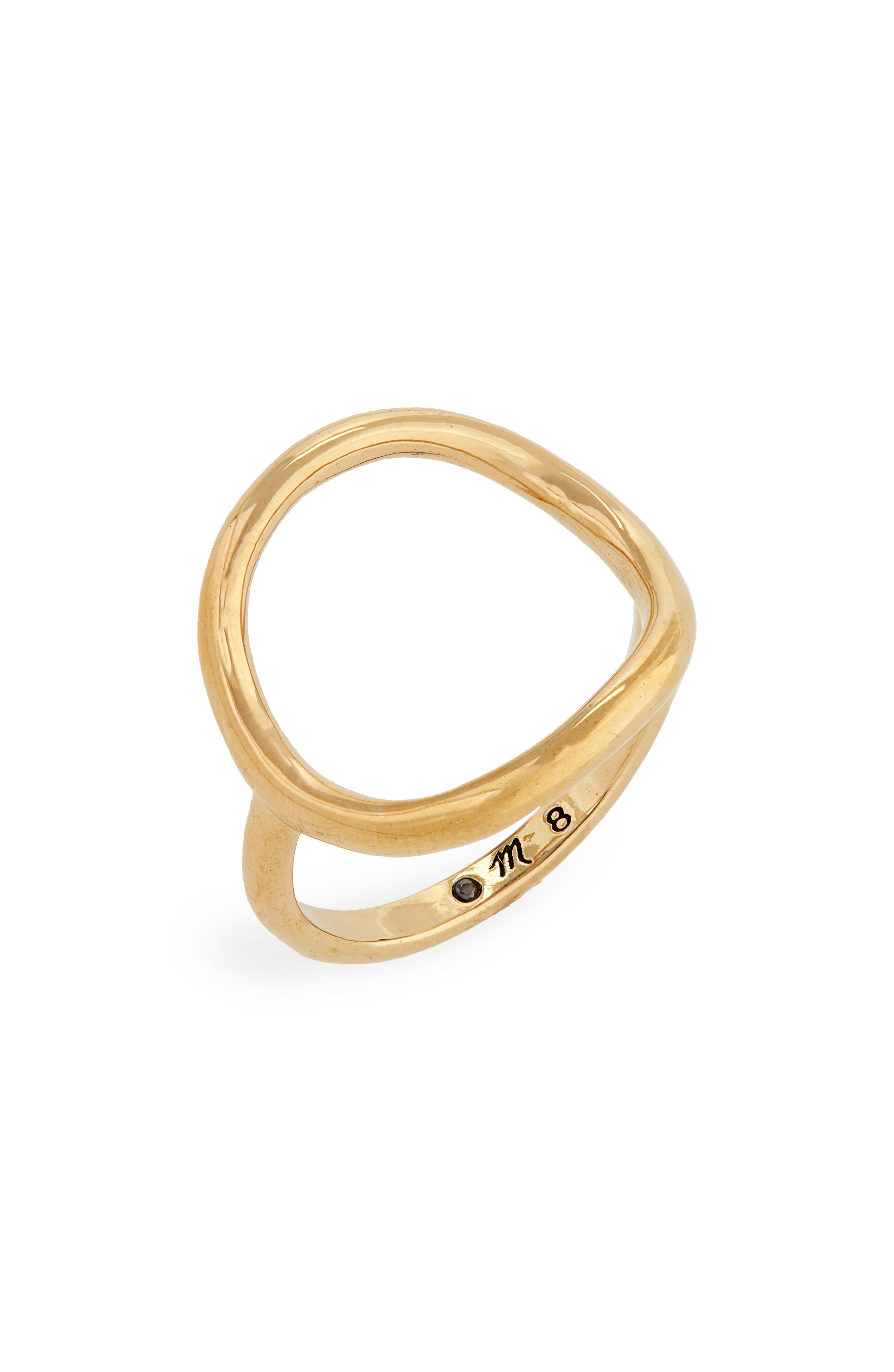 Ceremony Circle Ring,                         Main,                         color, GOLD