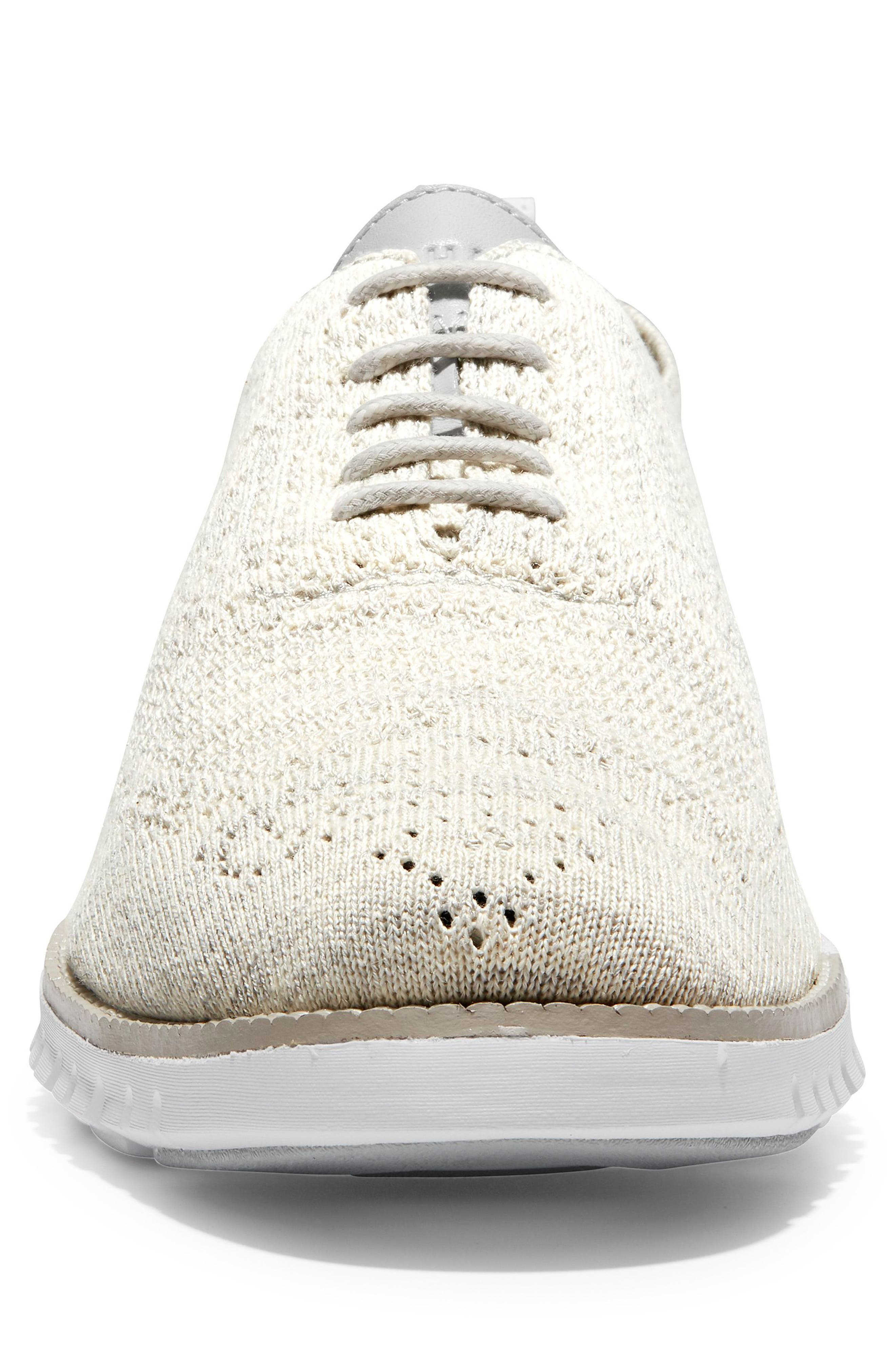 ZeroGrand Stitchlite Woven Wool Wingtip,                             Alternate thumbnail 4, color,                             HARBOR MIST KNIT