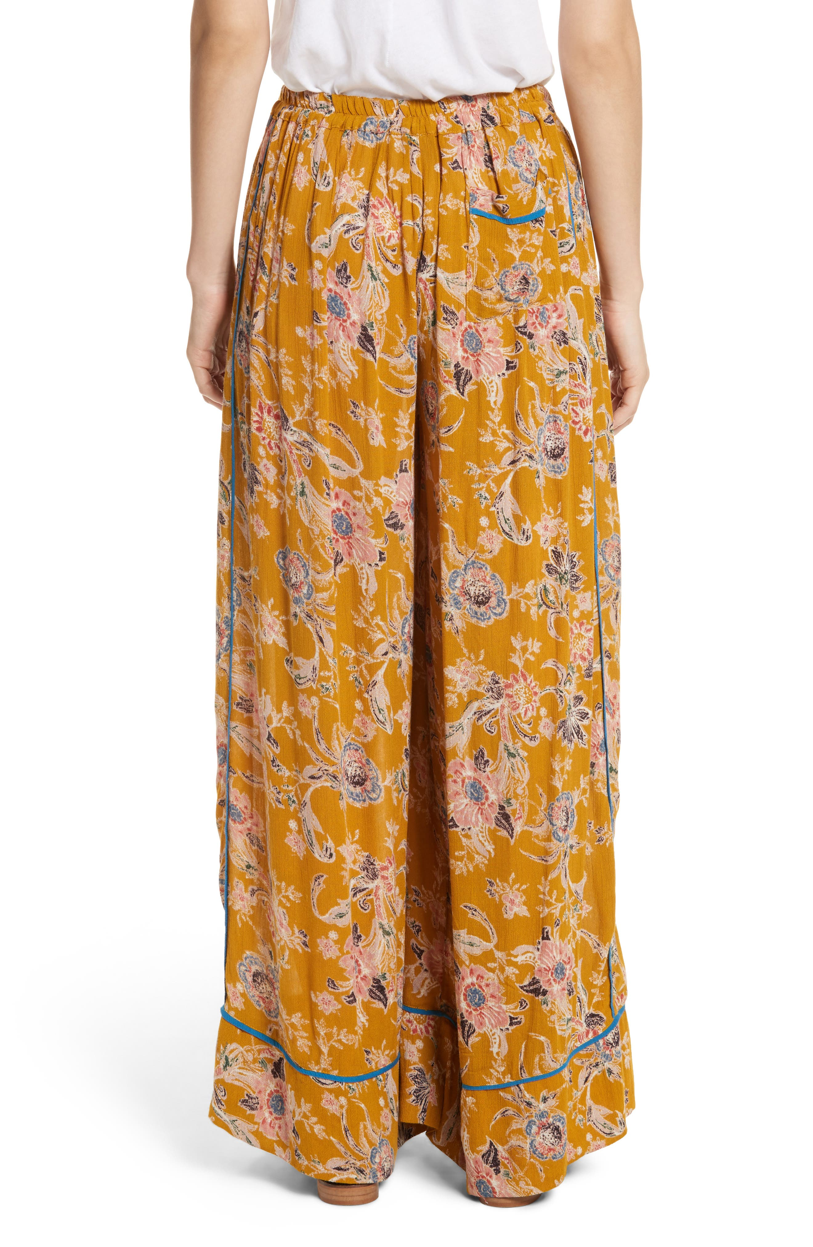 Bali Wildflower Wide Leg Pants,                             Alternate thumbnail 4, color,