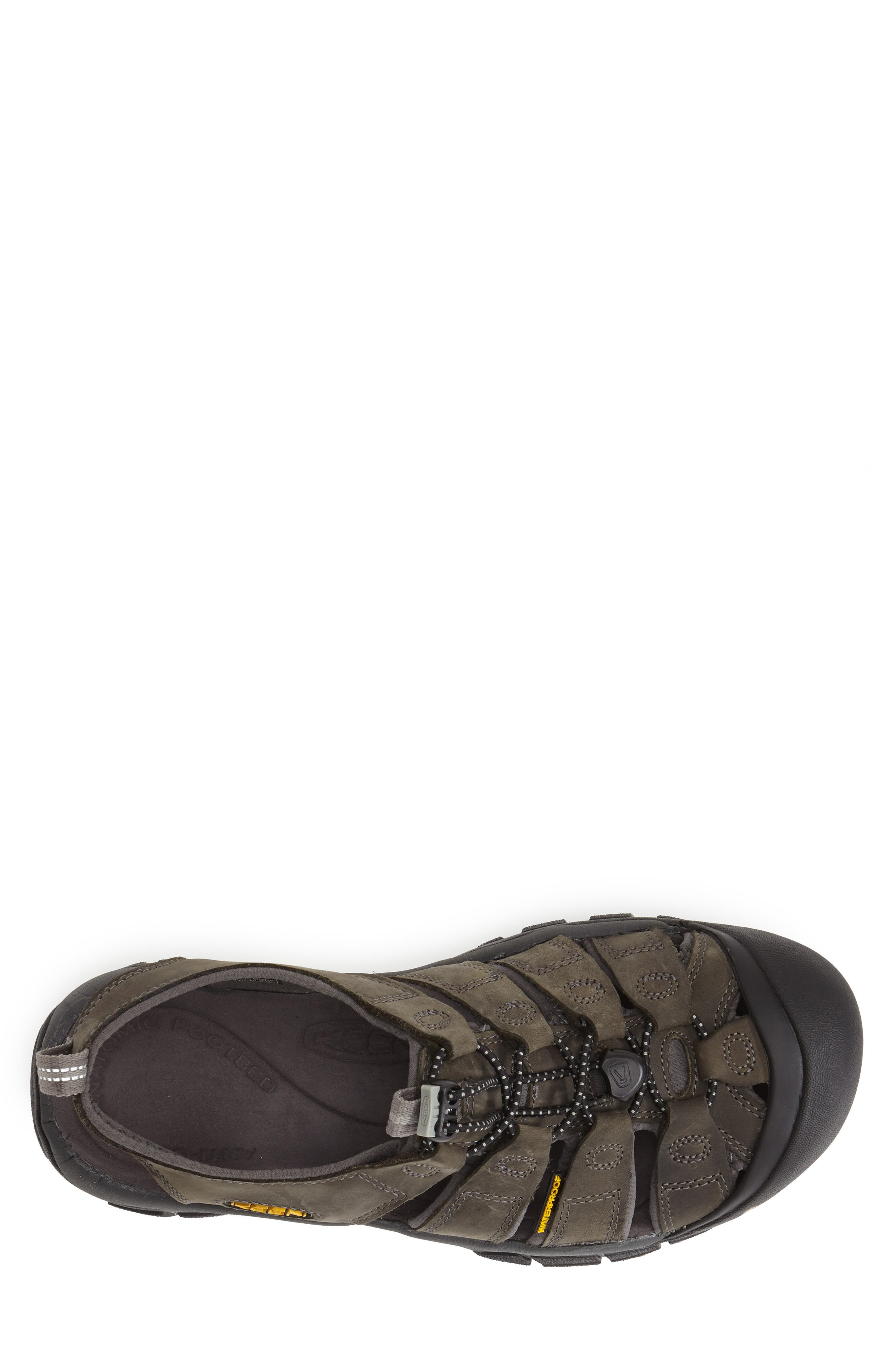 'Newport' Water Sandal,                             Alternate thumbnail 5, color,                             NEUTRAL GREY/ GARGOYLE