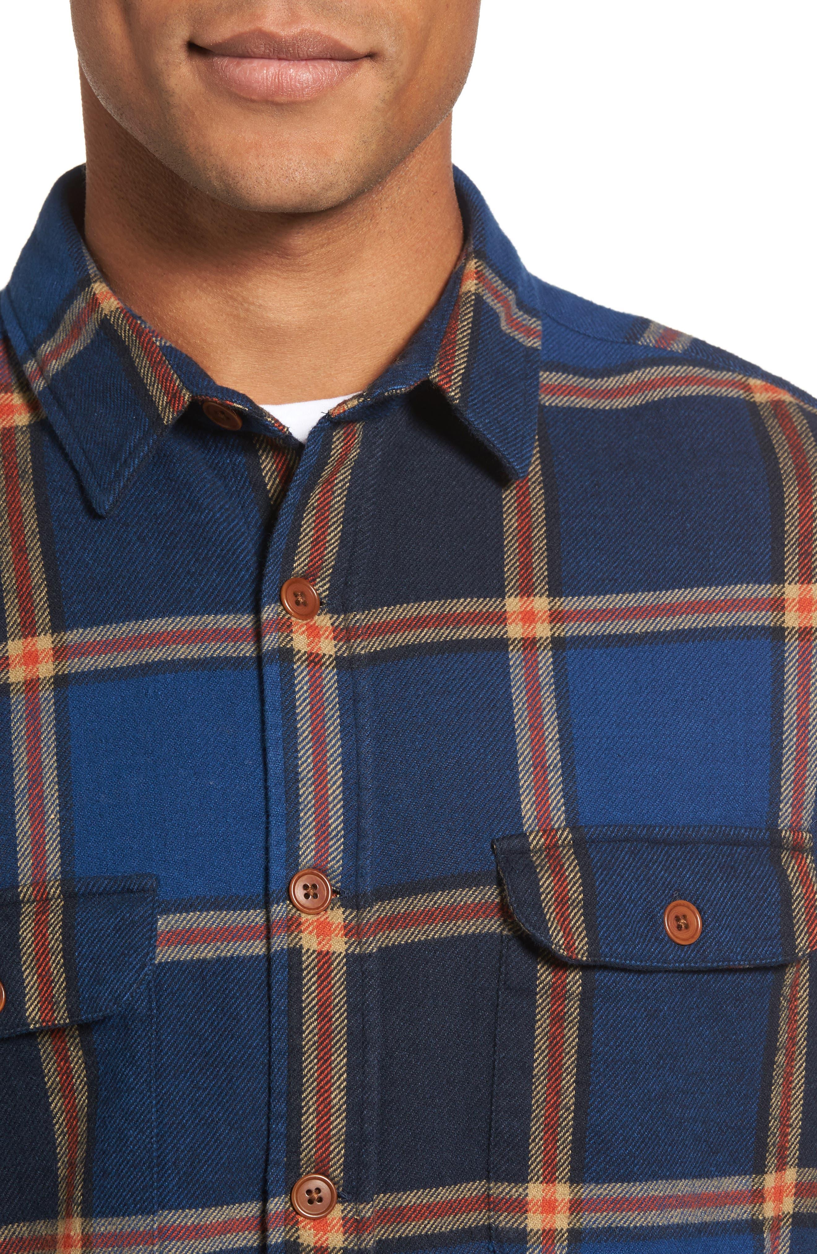 R1 Check Twill Shirt Jacket,                             Alternate thumbnail 4, color,                             410