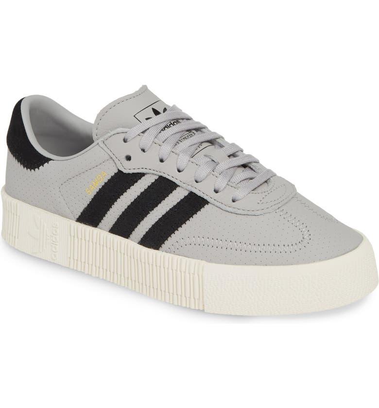 designer fashion 2e774 44292 ADIDAS Samba Rose Sneaker, Main, color, GREY TWO BLACK OFF WHITE
