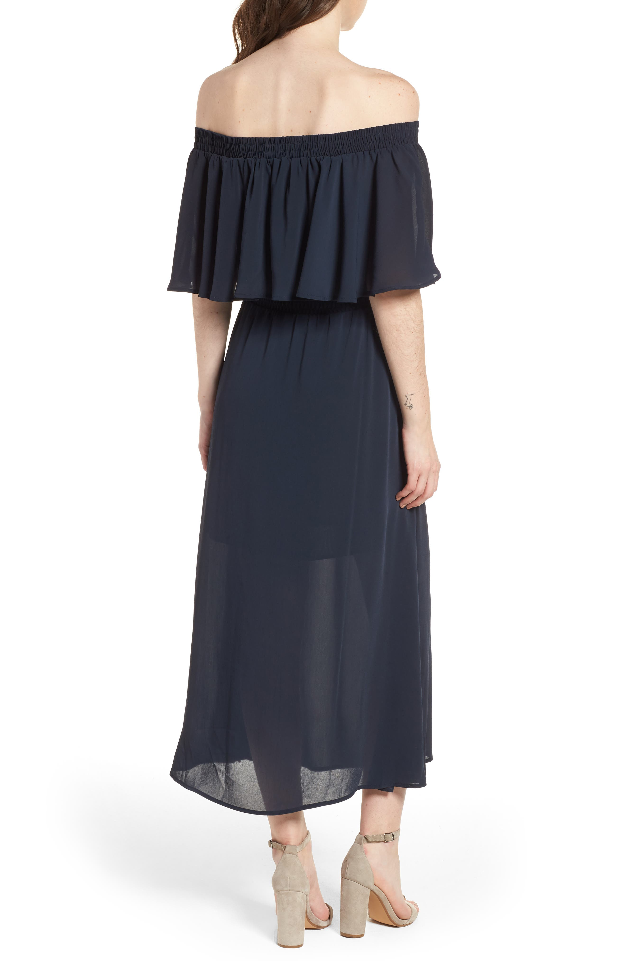 Touch the Sun Off the Shoulder Dress,                             Alternate thumbnail 3, color,