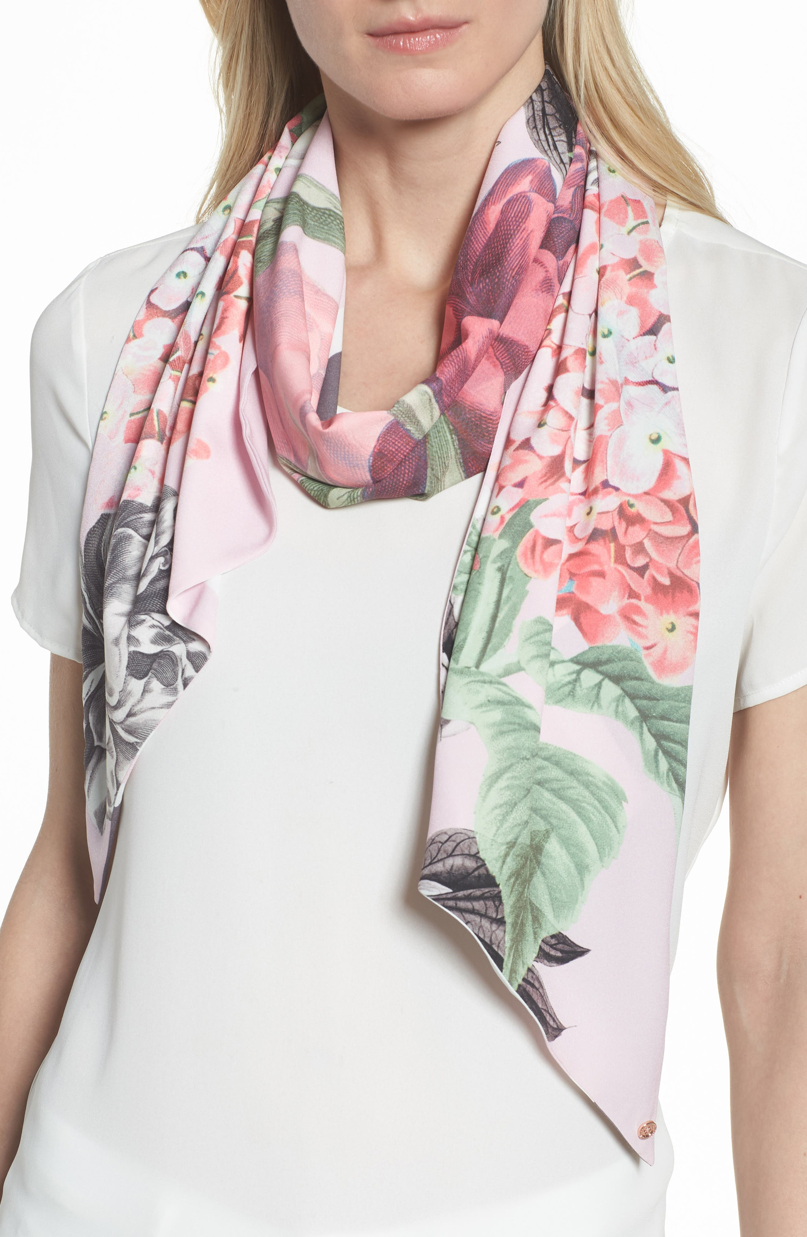Palace Gardens Skinny Scarf,                         Main,                         color, 652