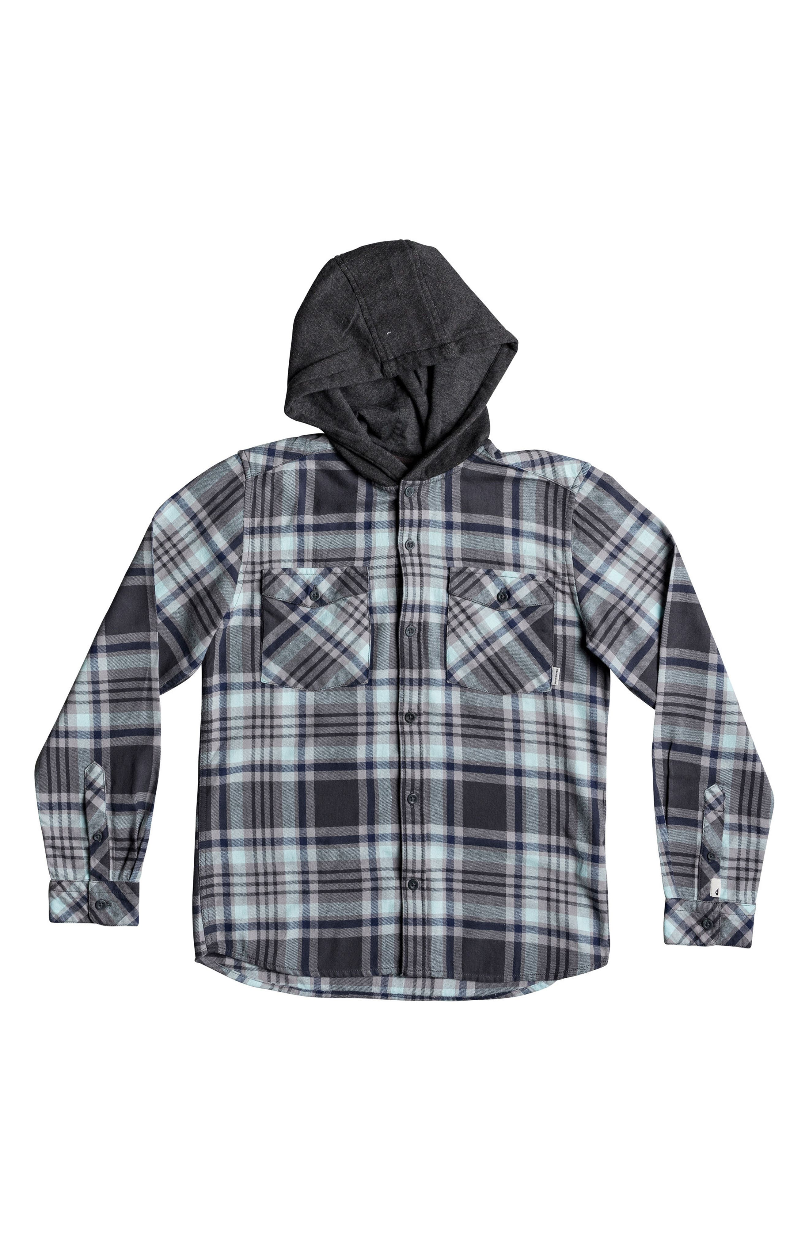 Hooded Tang Plaid Flannel Shirt,                             Main thumbnail 2, color,