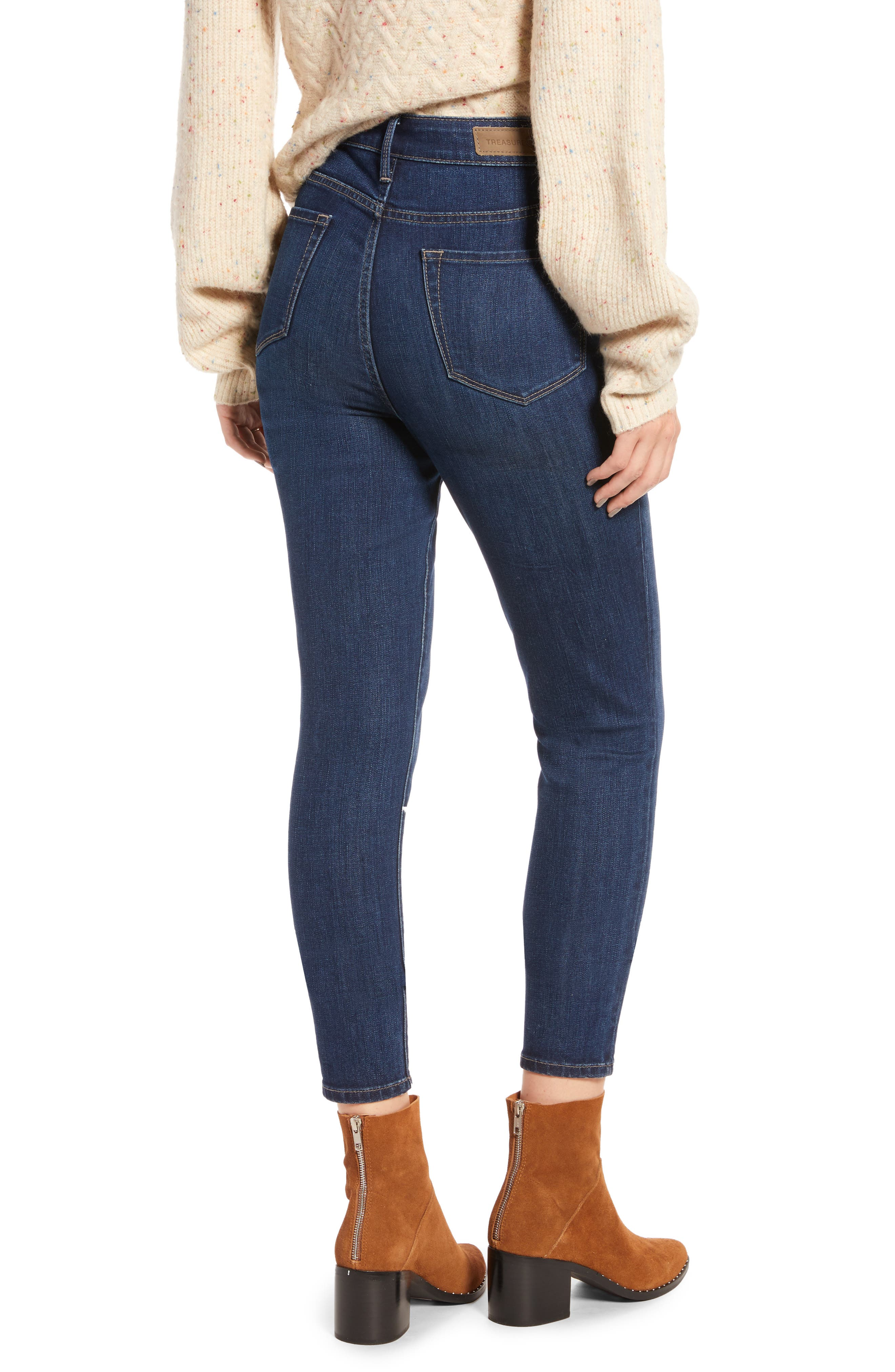 Charity High Waist Ankle Skinny Jeans,                             Alternate thumbnail 2, color,                             401