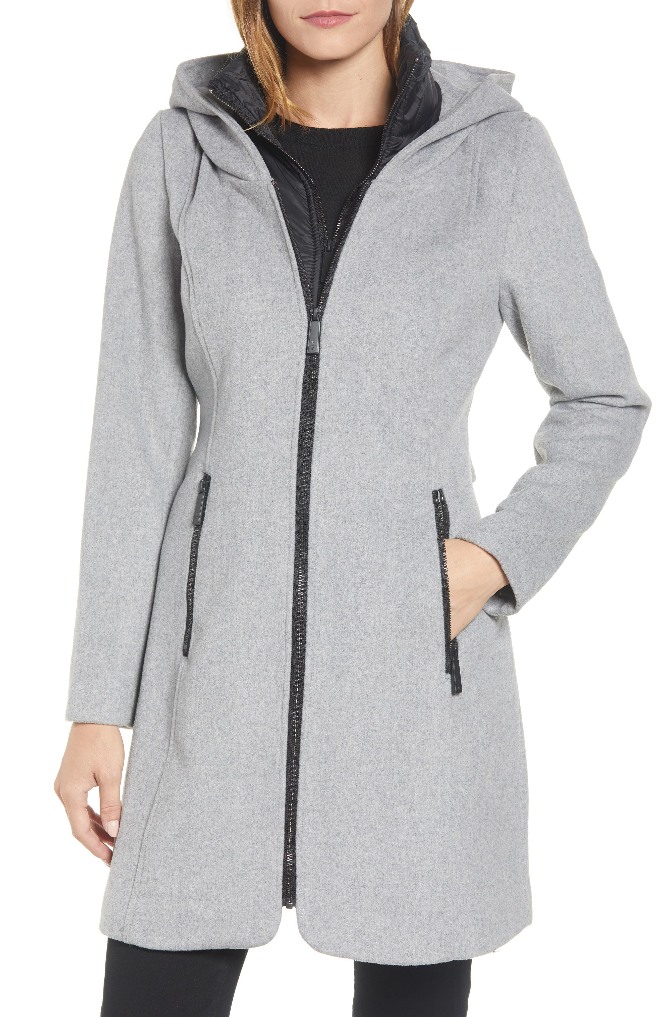 Hooded Twill Coat, Main, color, 033