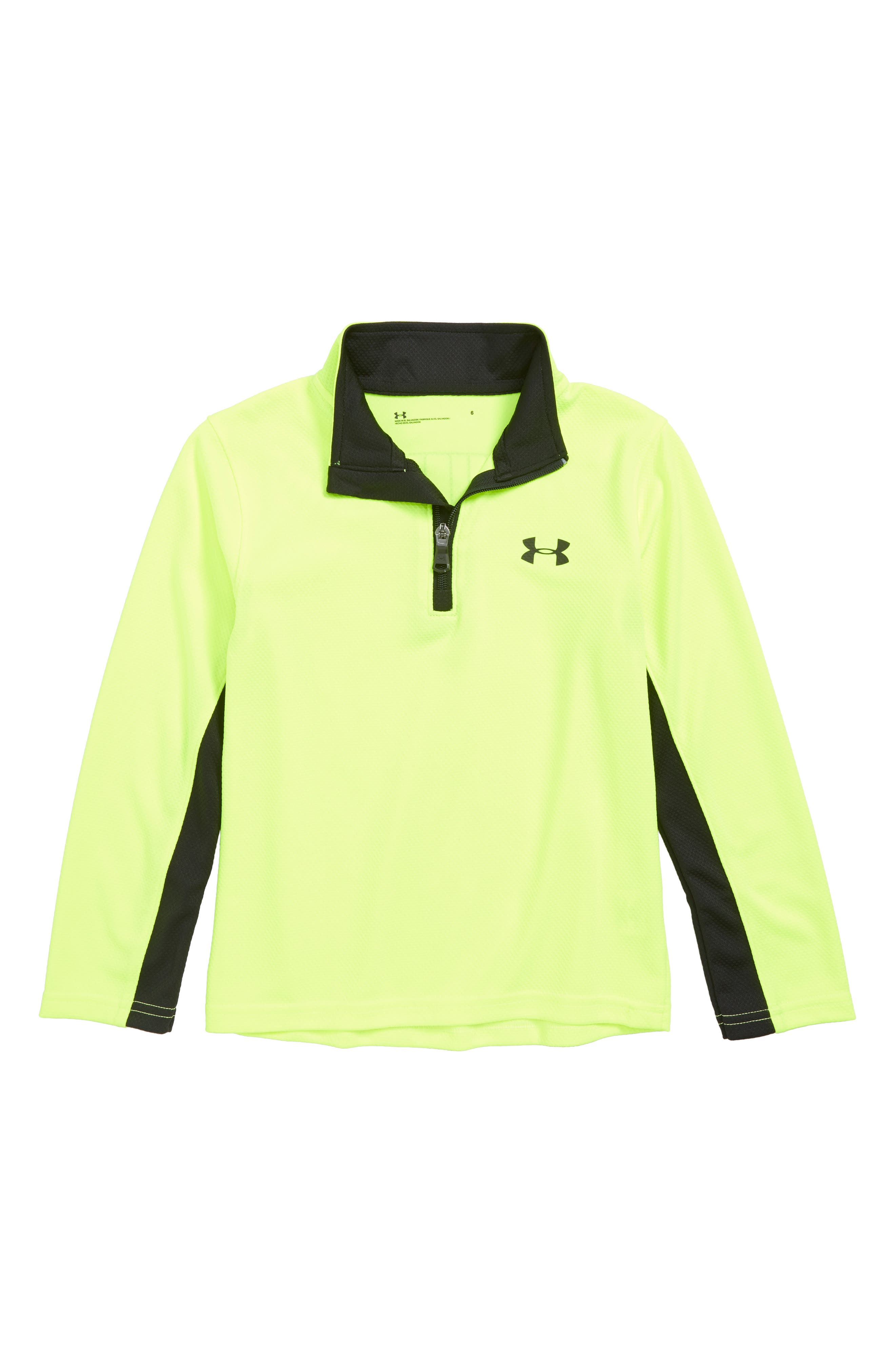 MVP Quarter Zip Pullover,                         Main,                         color, YELLOW