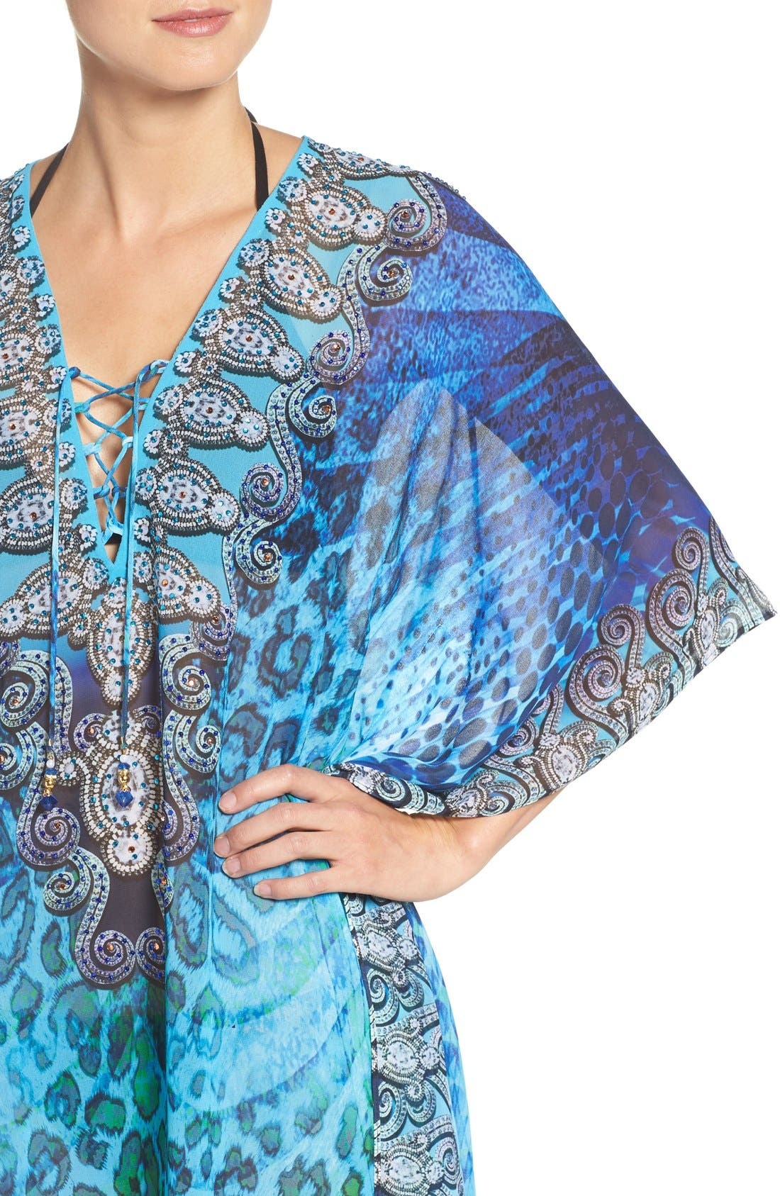 'Santorini' Long Kaftan,                             Alternate thumbnail 5, color,                             400