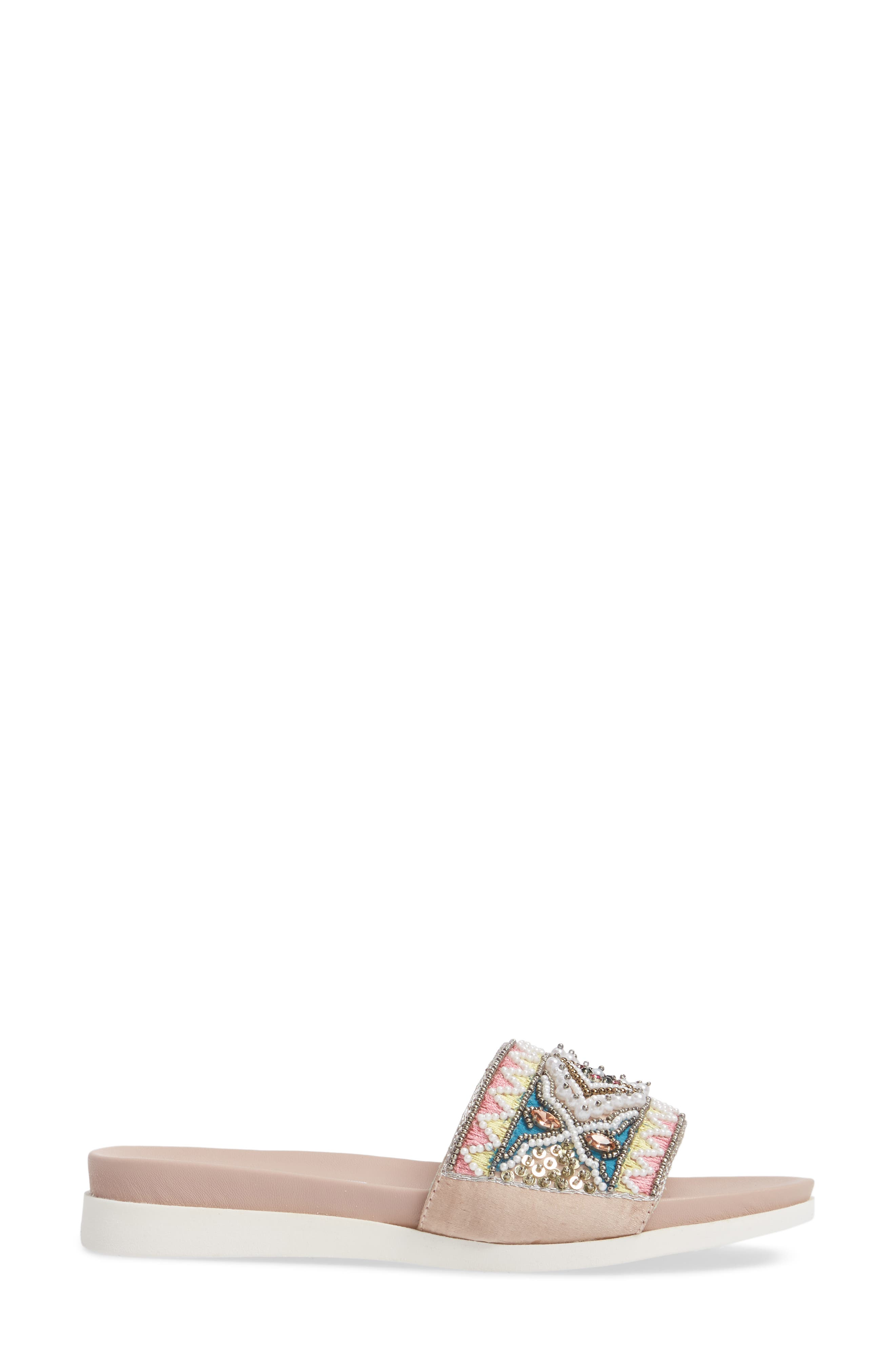 Thalia Beaded Slide Sandal,                             Alternate thumbnail 3, color,                             400
