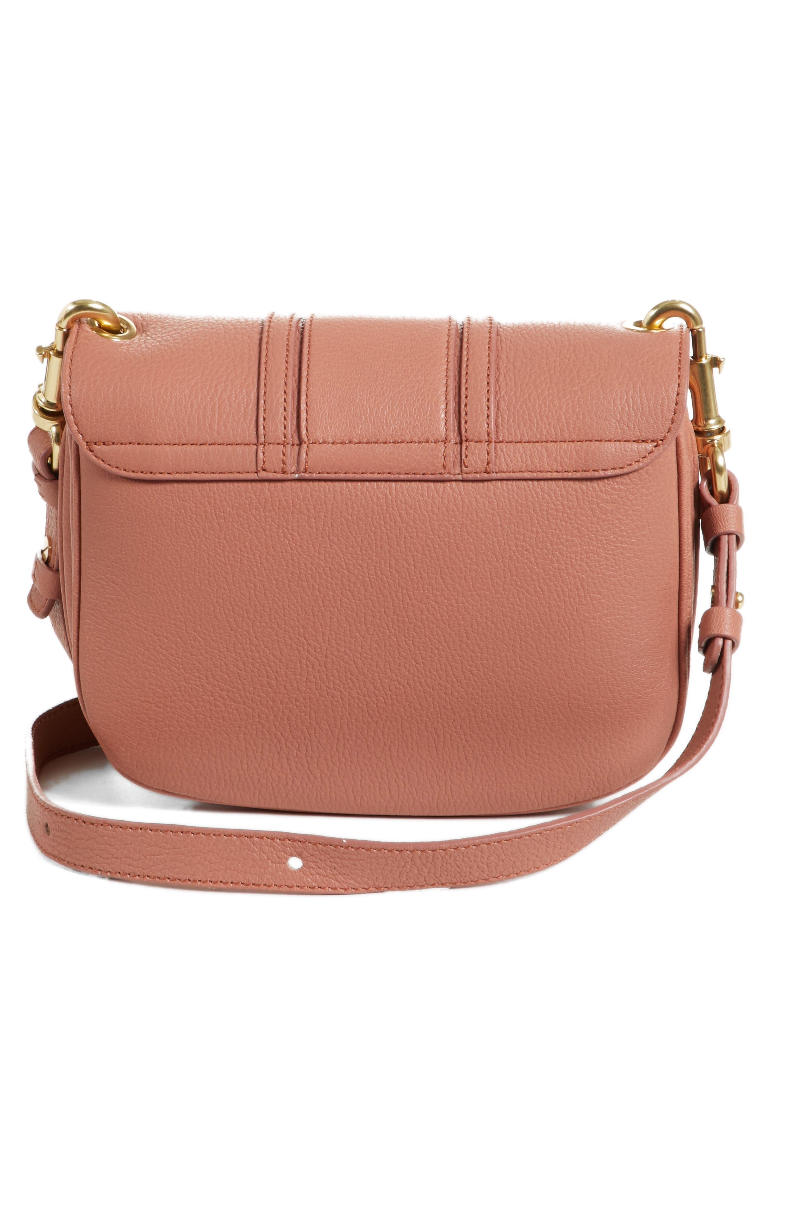 Hana Small Leather Crossbody Bag,                             Alternate thumbnail 19, color,
