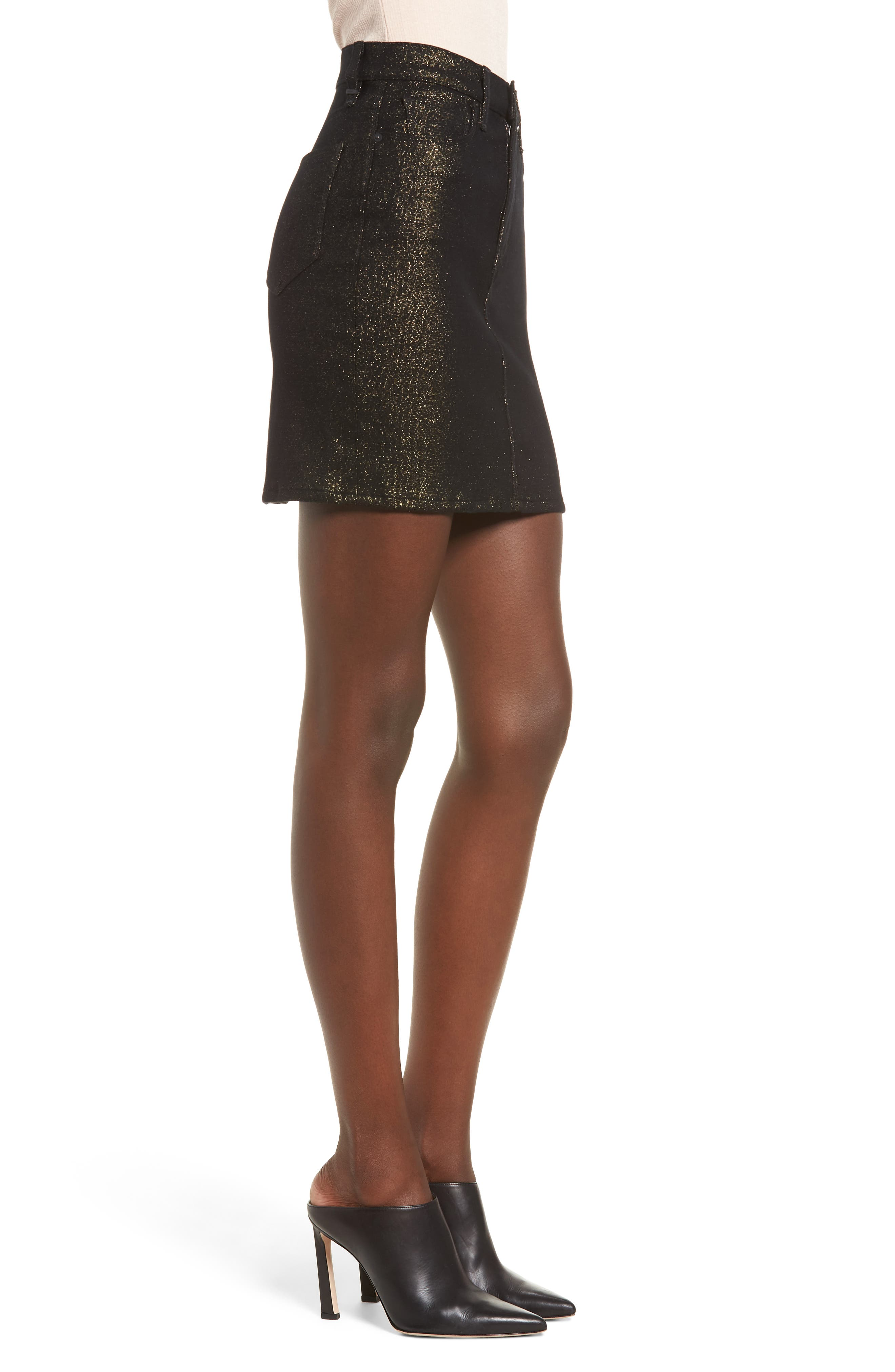 Lulu Sparkle Miniskirt,                             Alternate thumbnail 3, color,                             GOLD STELLAR