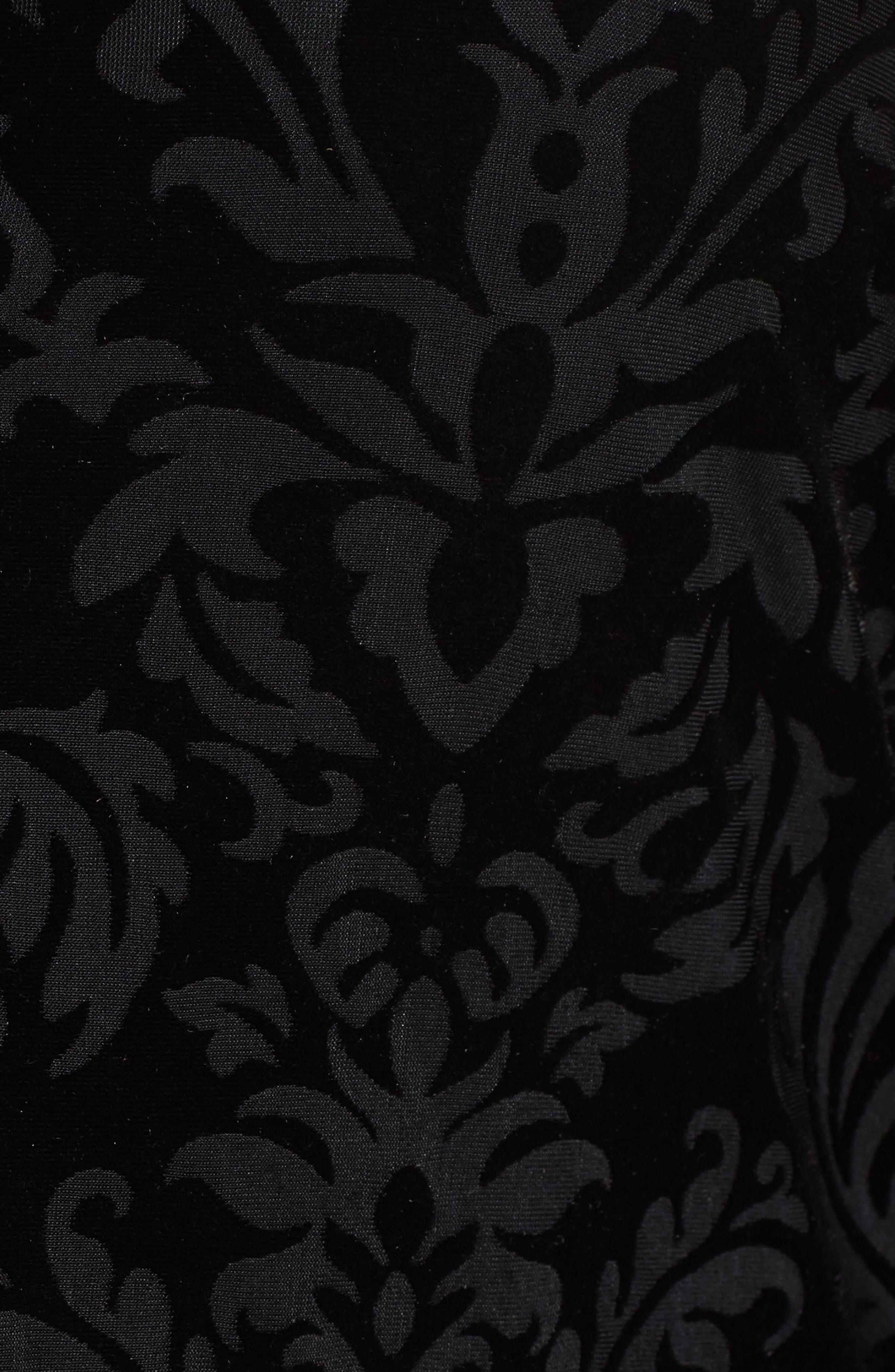 Jade Velvet Burnout Blouse,                             Alternate thumbnail 5, color,                             001