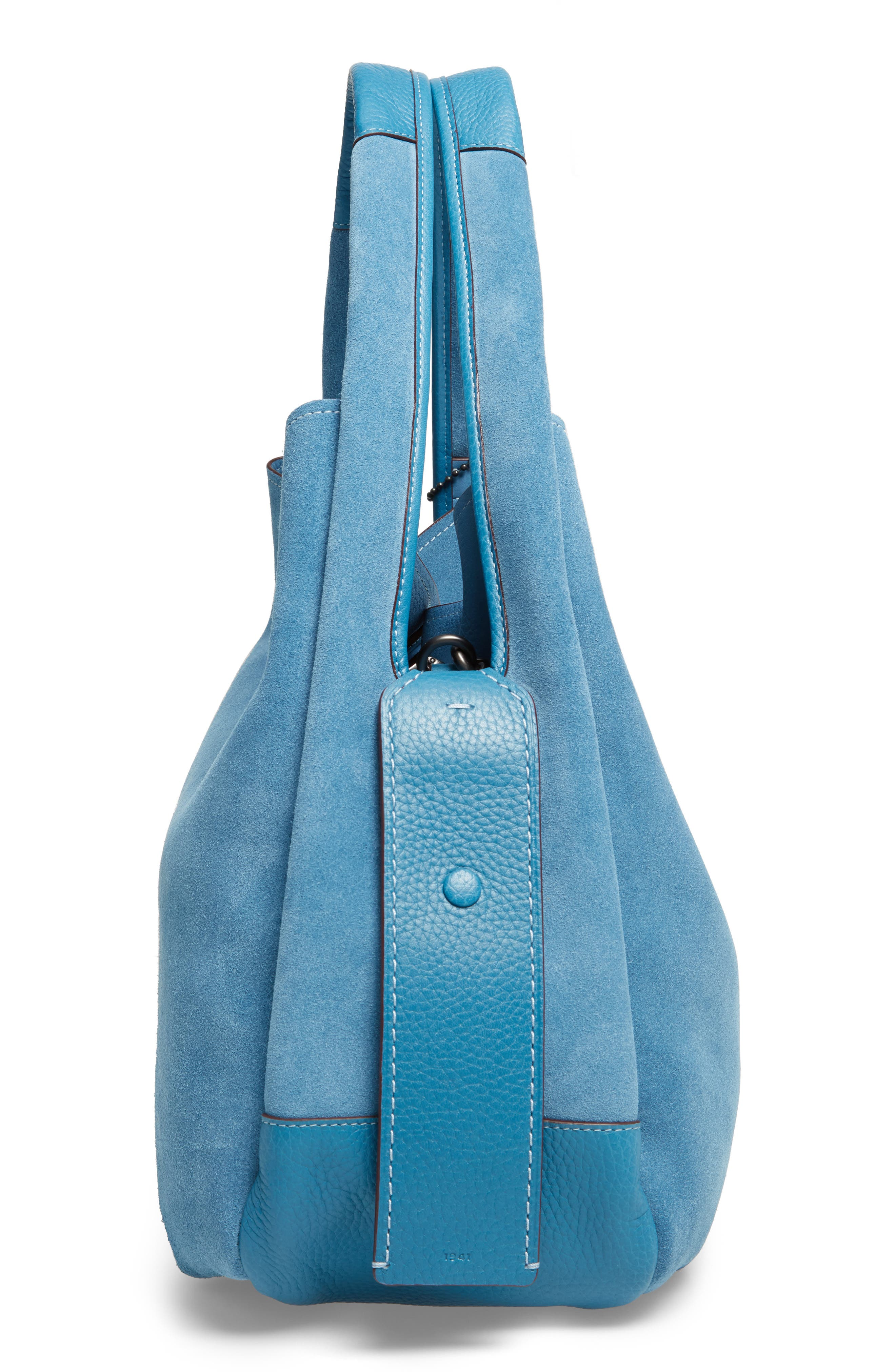 Bandit Suede Hobo & Removable Shoulder Bag,                             Alternate thumbnail 5, color,                             453