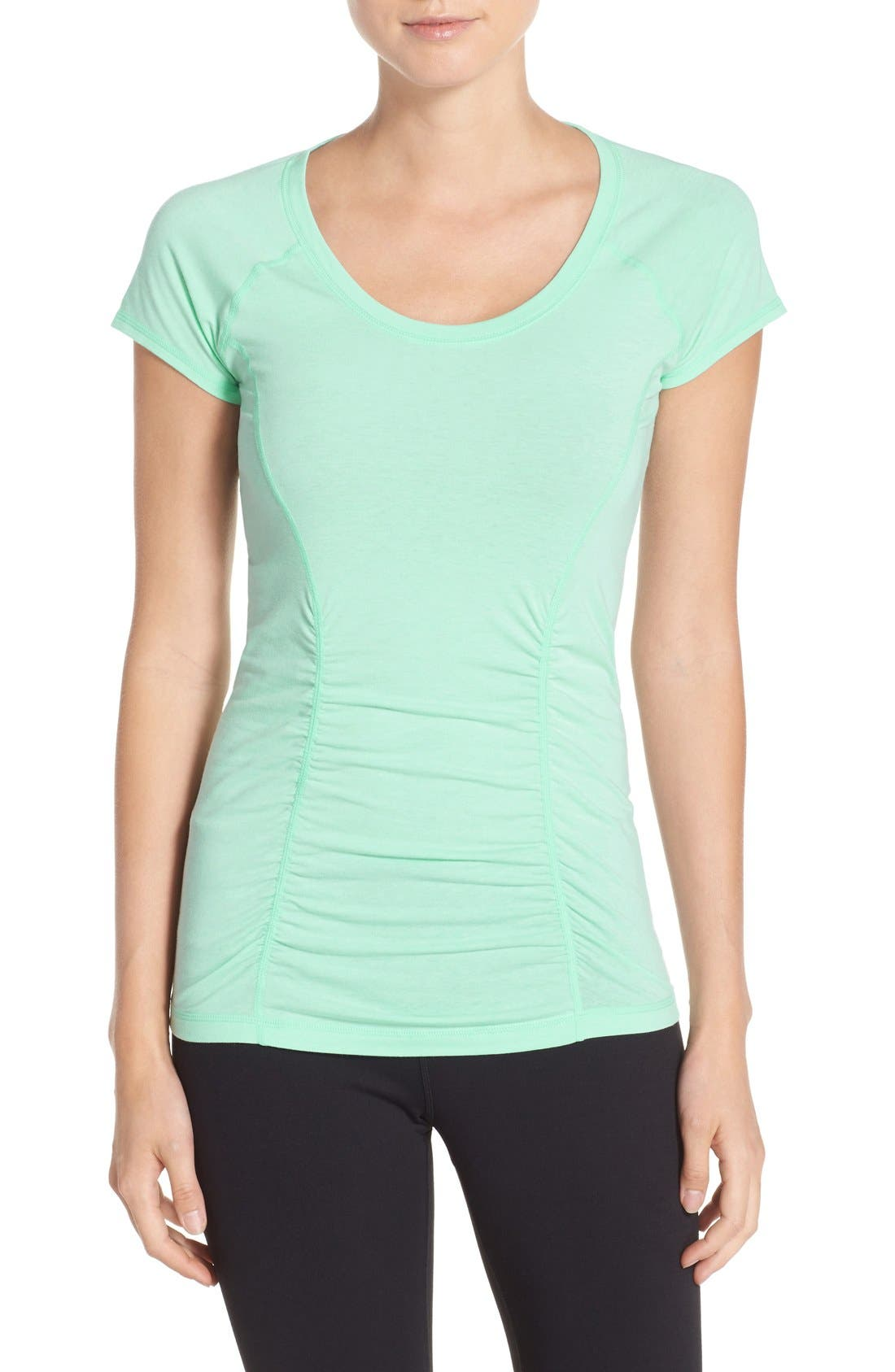 'Z 6' Ruched Tee,                             Main thumbnail 10, color,