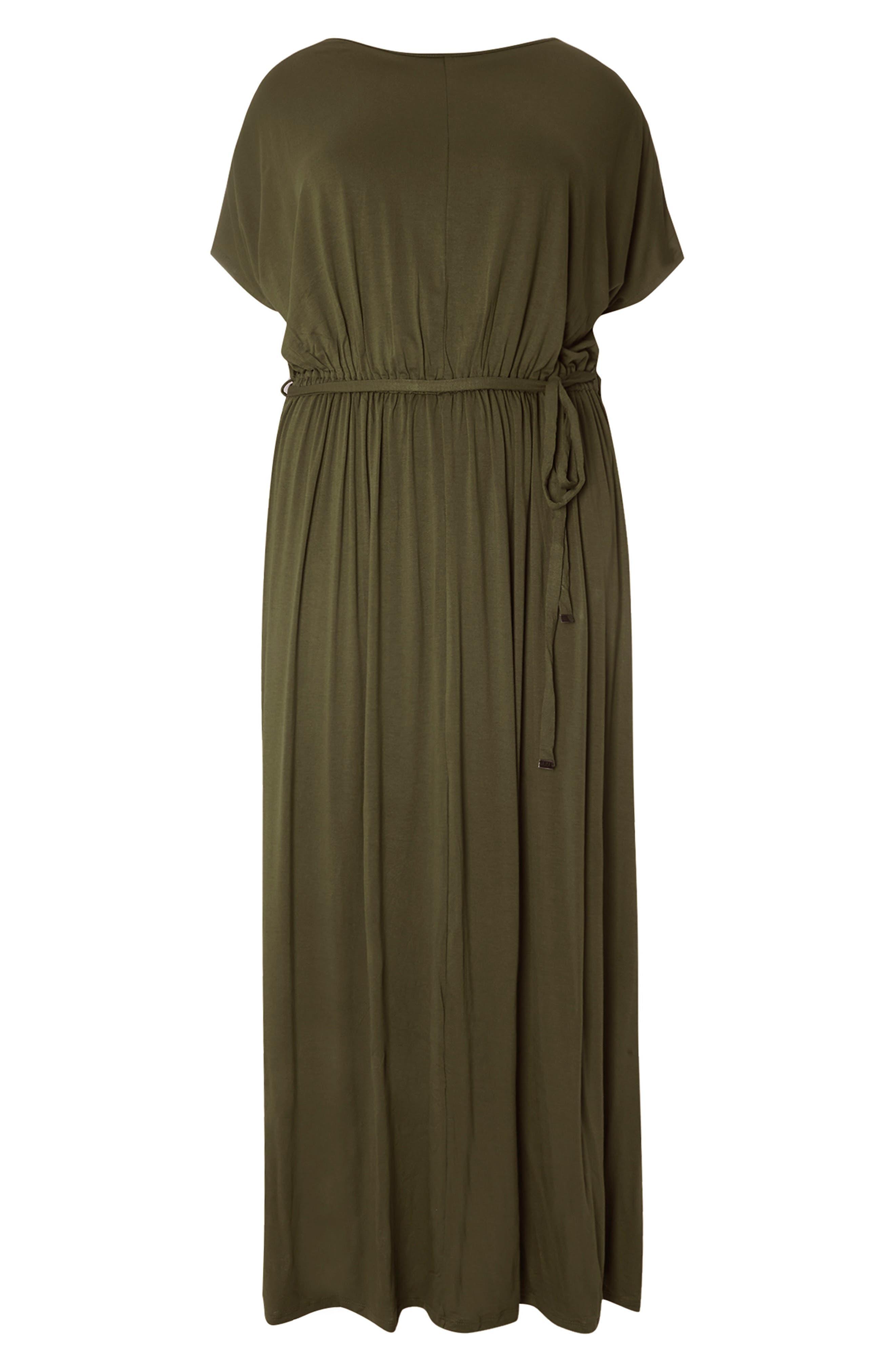 Jersey Cold Shoulder Maxi Dress,                             Alternate thumbnail 4, color,                             200