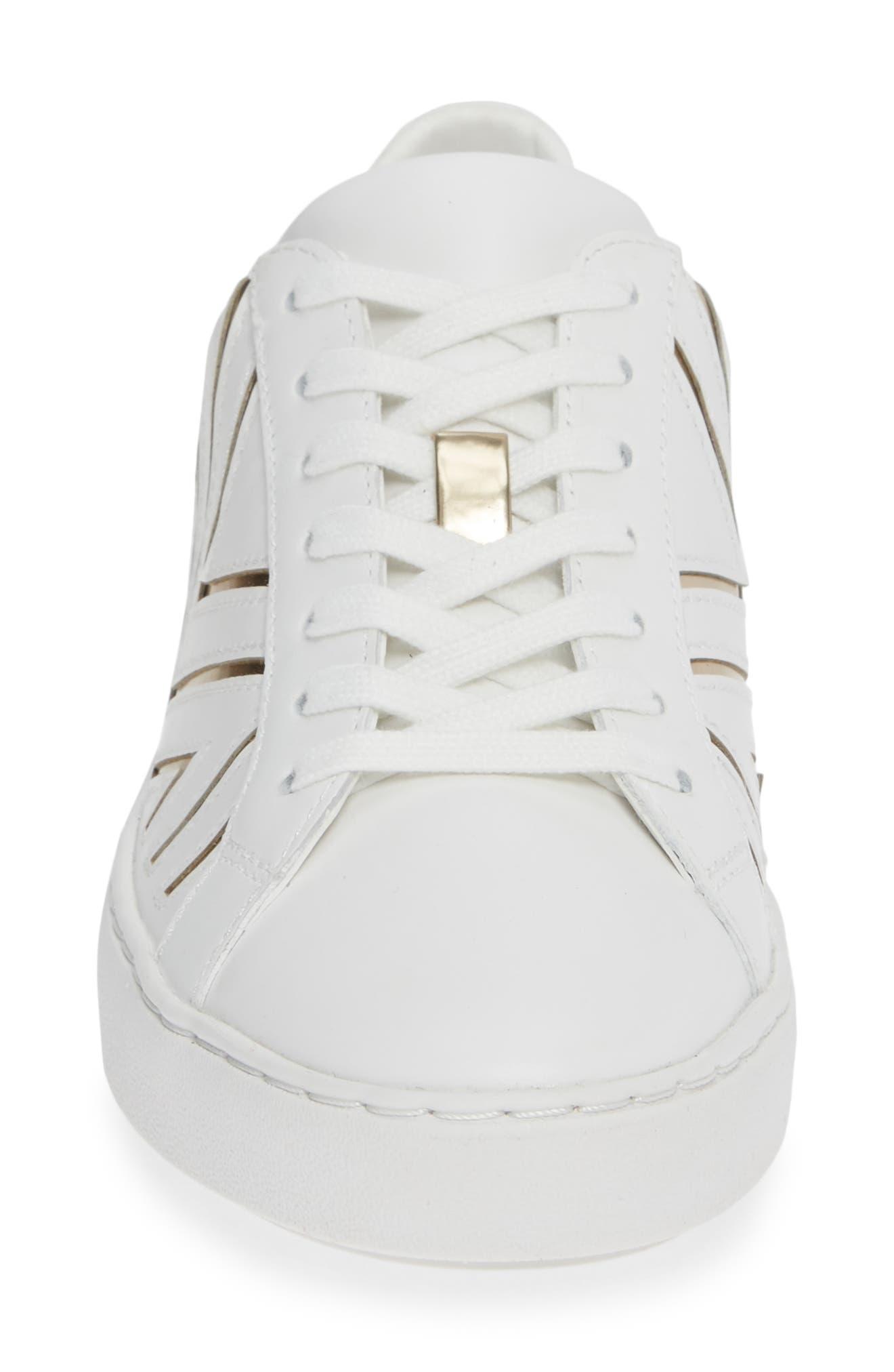 MICHAEL MICHAEL KORS,                             Whitney Sneaker,                             Alternate thumbnail 4, color,                             100