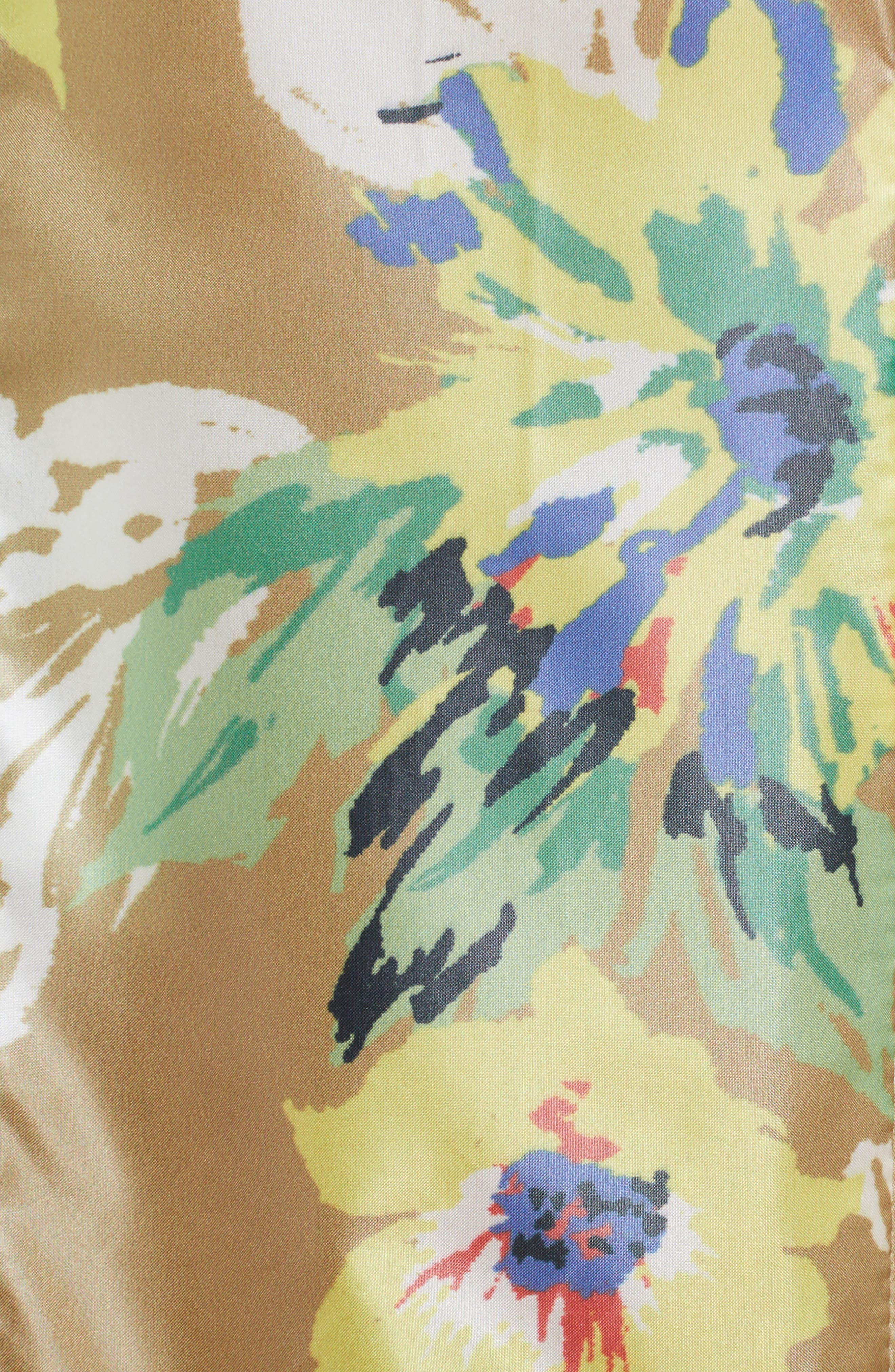 Floral Print Dress,                             Alternate thumbnail 5, color,                             700