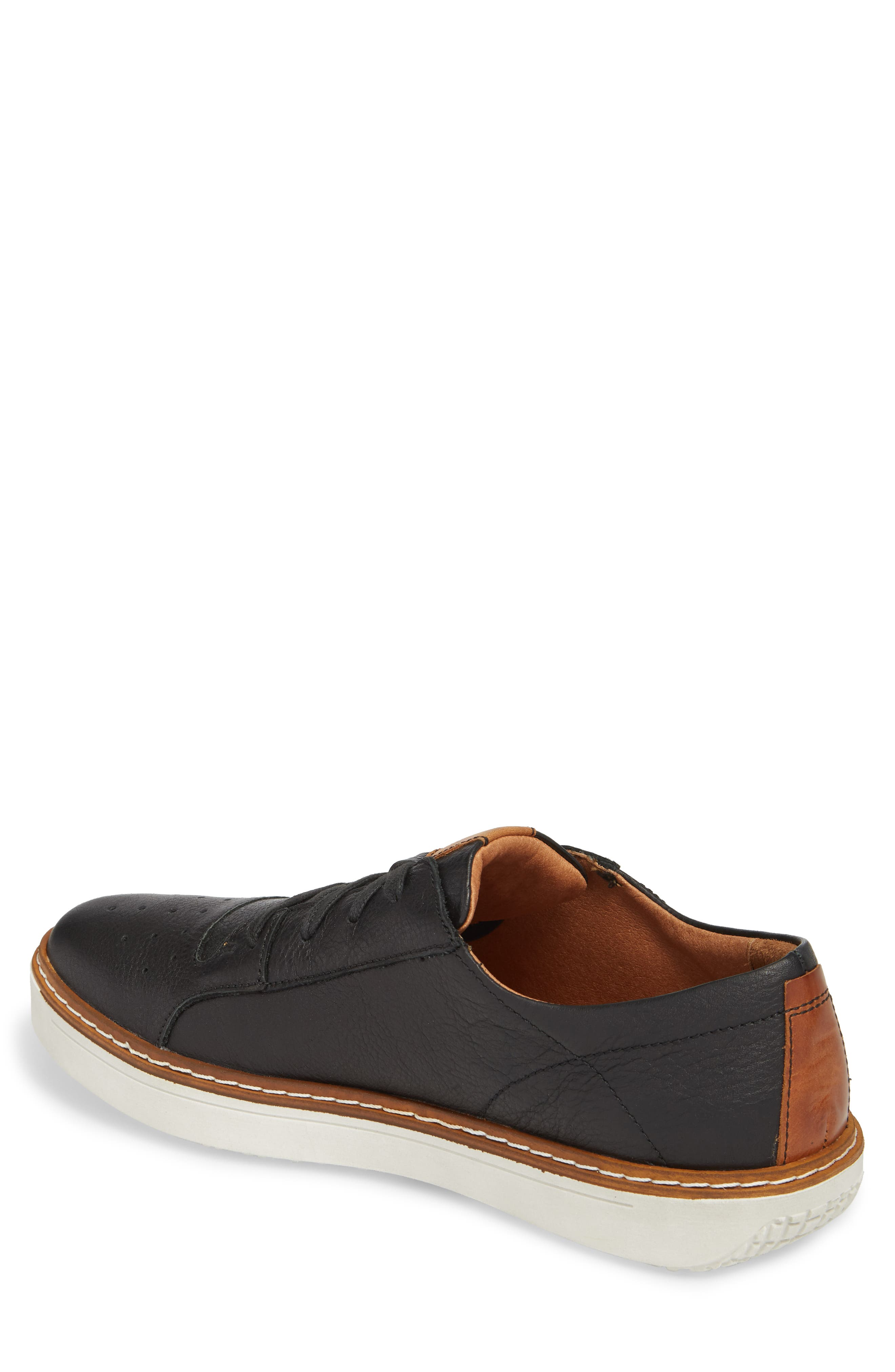 Quentin 03 Low Top Sneaker,                             Alternate thumbnail 2, color,                             BLACK KOMBI LEATHER