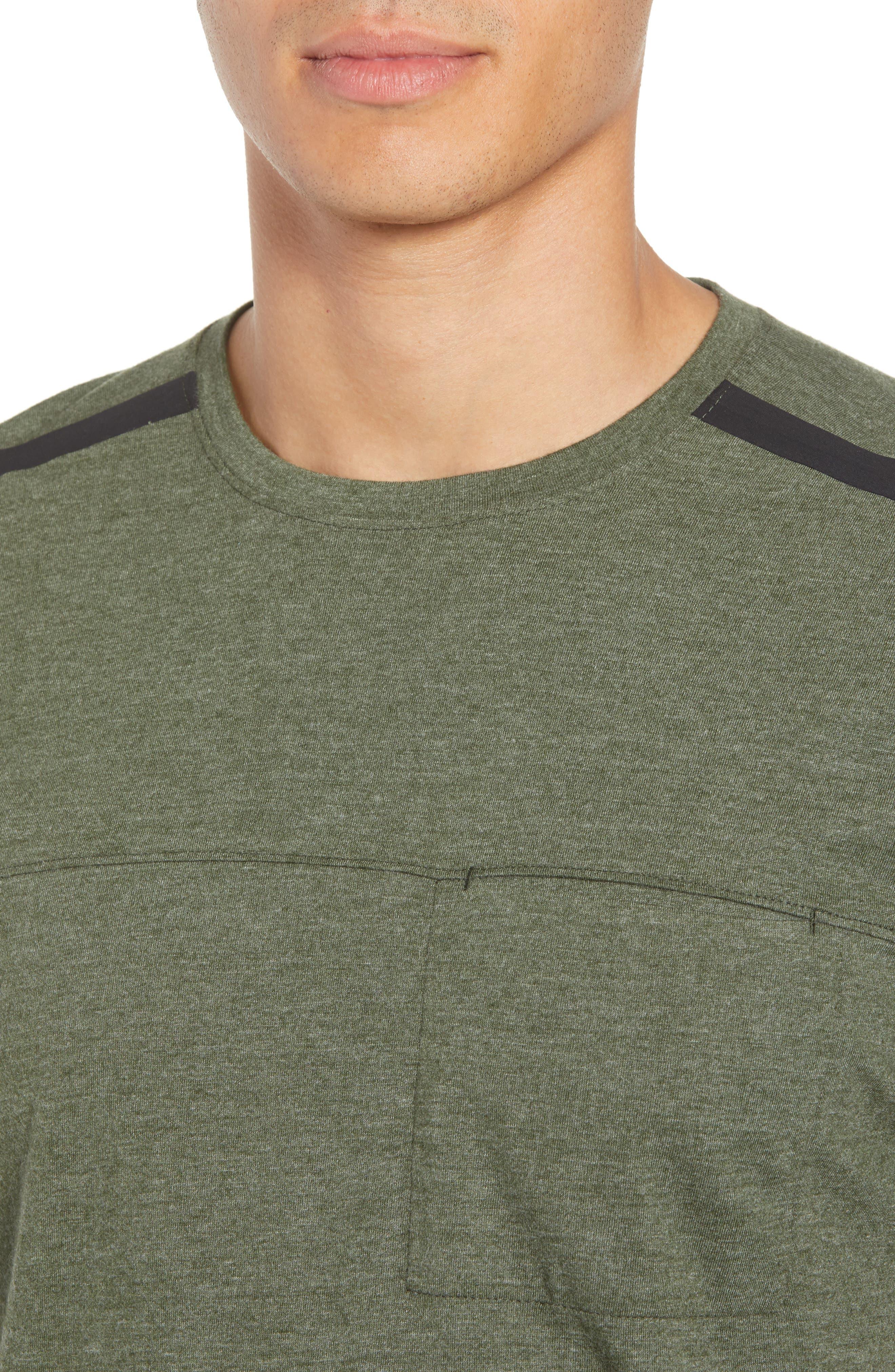 Perfomance T-Shirt,                             Alternate thumbnail 4, color,                             GREEN TACTICAL MELANGE