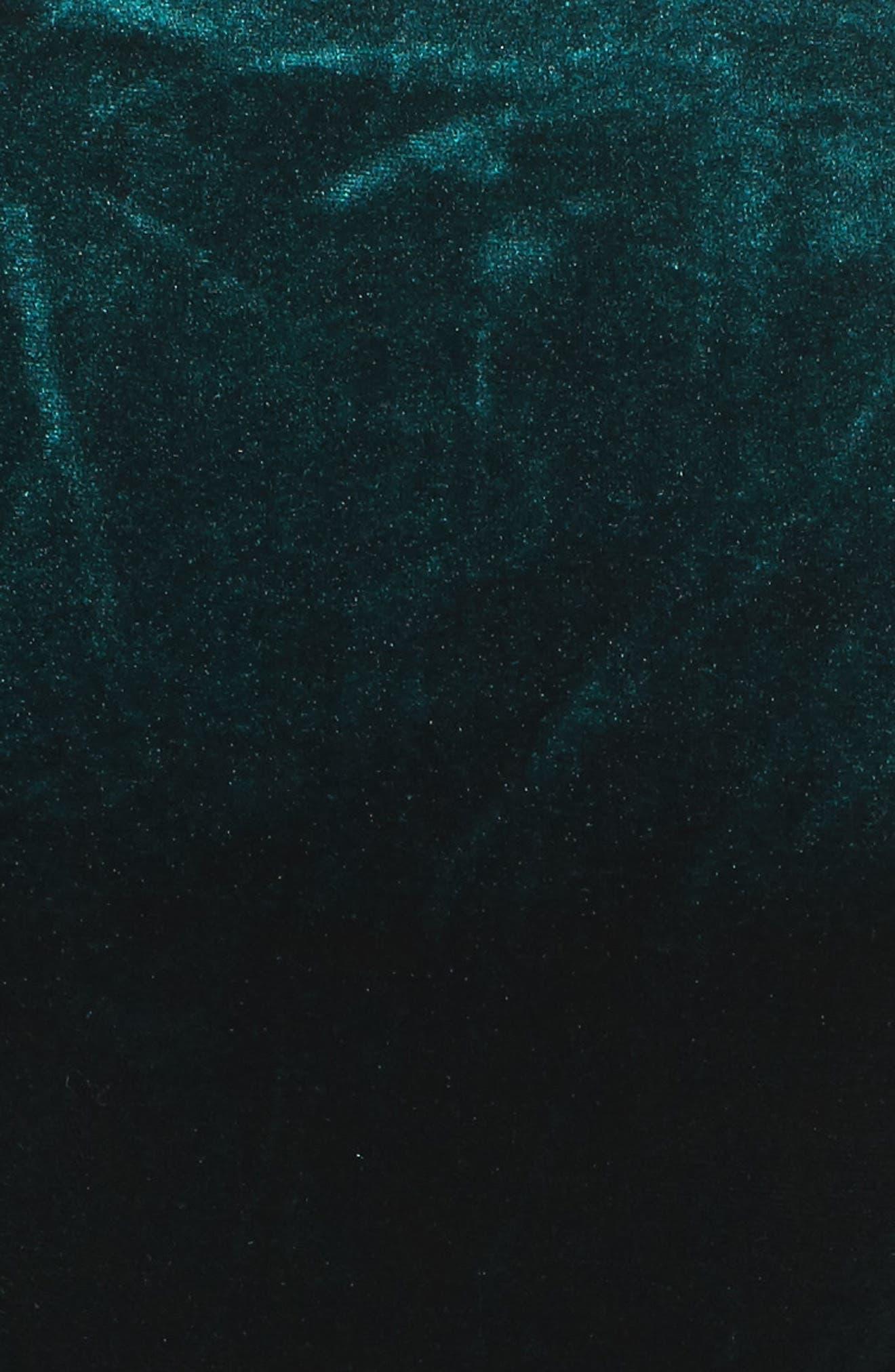 Off the Shoulder Velvet Sheath Dress,                             Alternate thumbnail 5, color,                             310