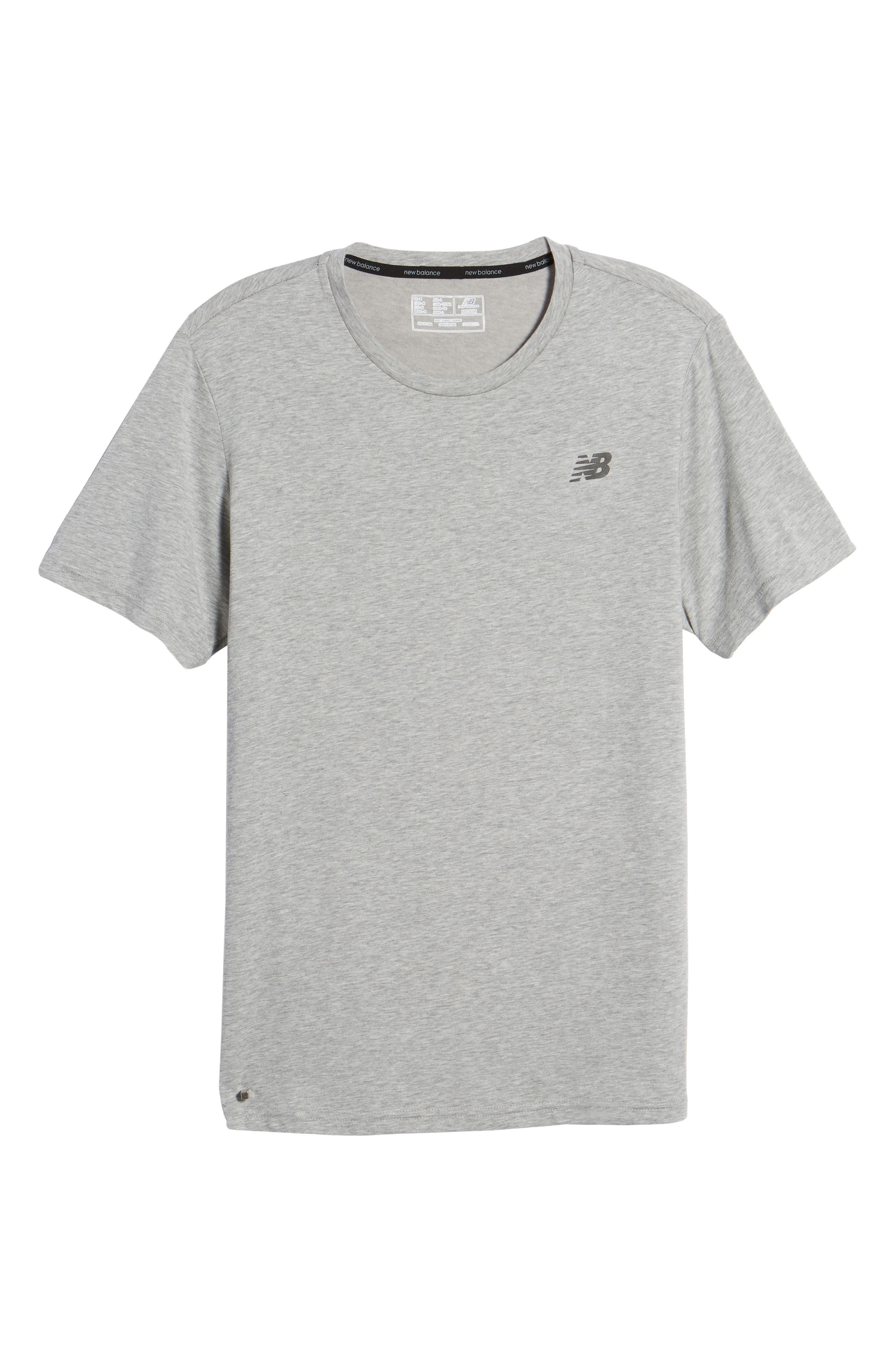 Heather Tech Crewneck T-Shirt,                             Alternate thumbnail 6, color,                             ATHLETIC GREY