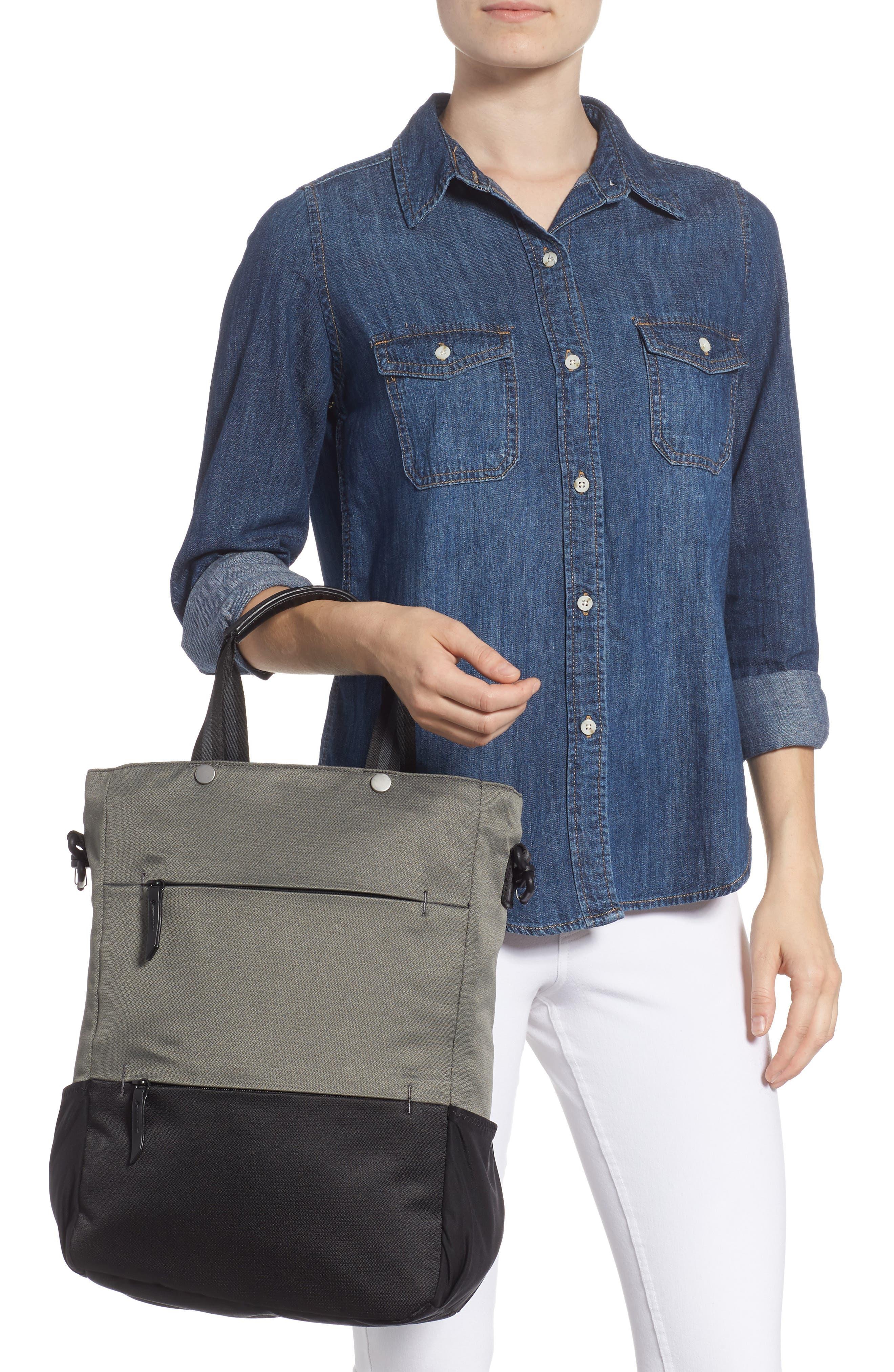 Camden RFID Convertible Backpack,                             Alternate thumbnail 3, color,                             GREY FLINT/ BLACK