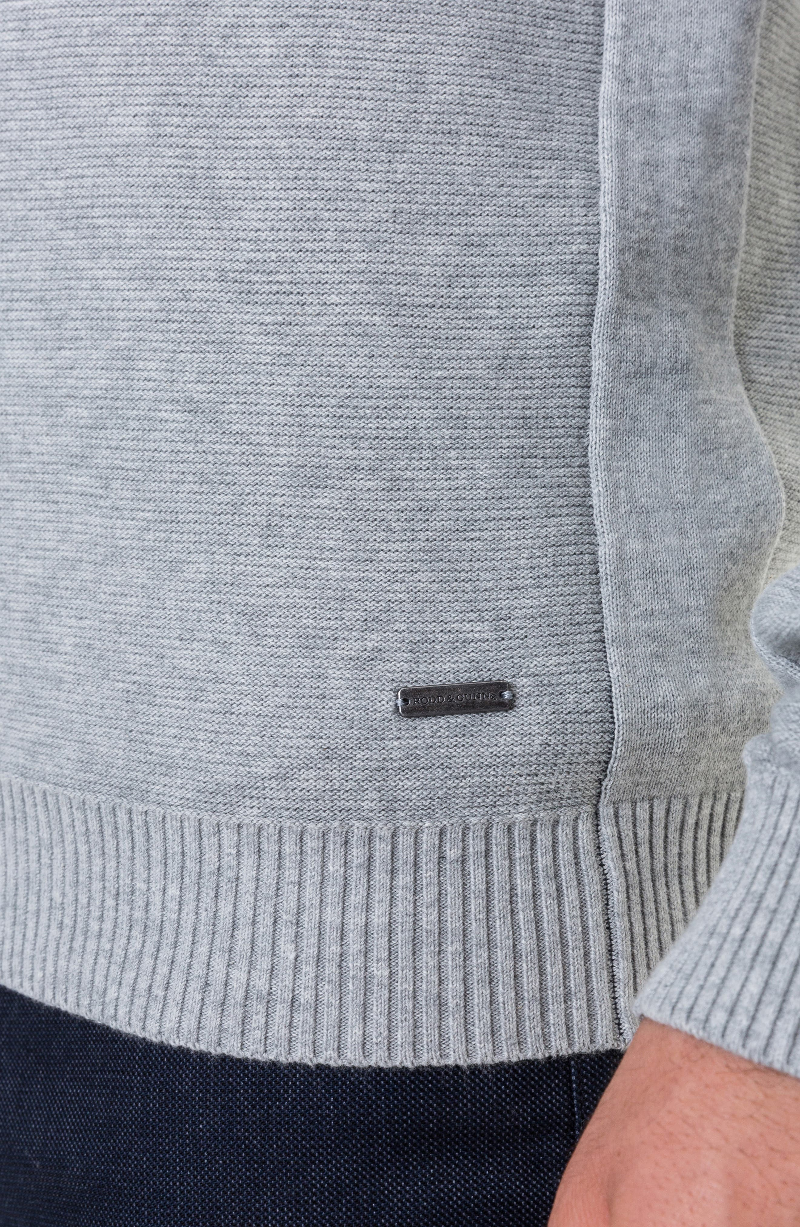 Ridgeview V-Neck Sweater,                             Alternate thumbnail 4, color,                             ASH