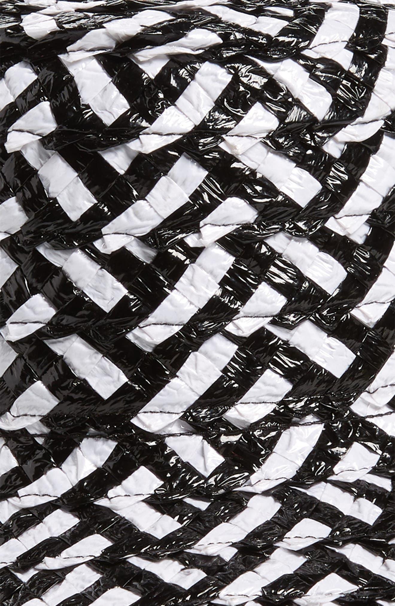 Stevie Straw Hat,                             Alternate thumbnail 2, color,                             WHITE/ BLACK