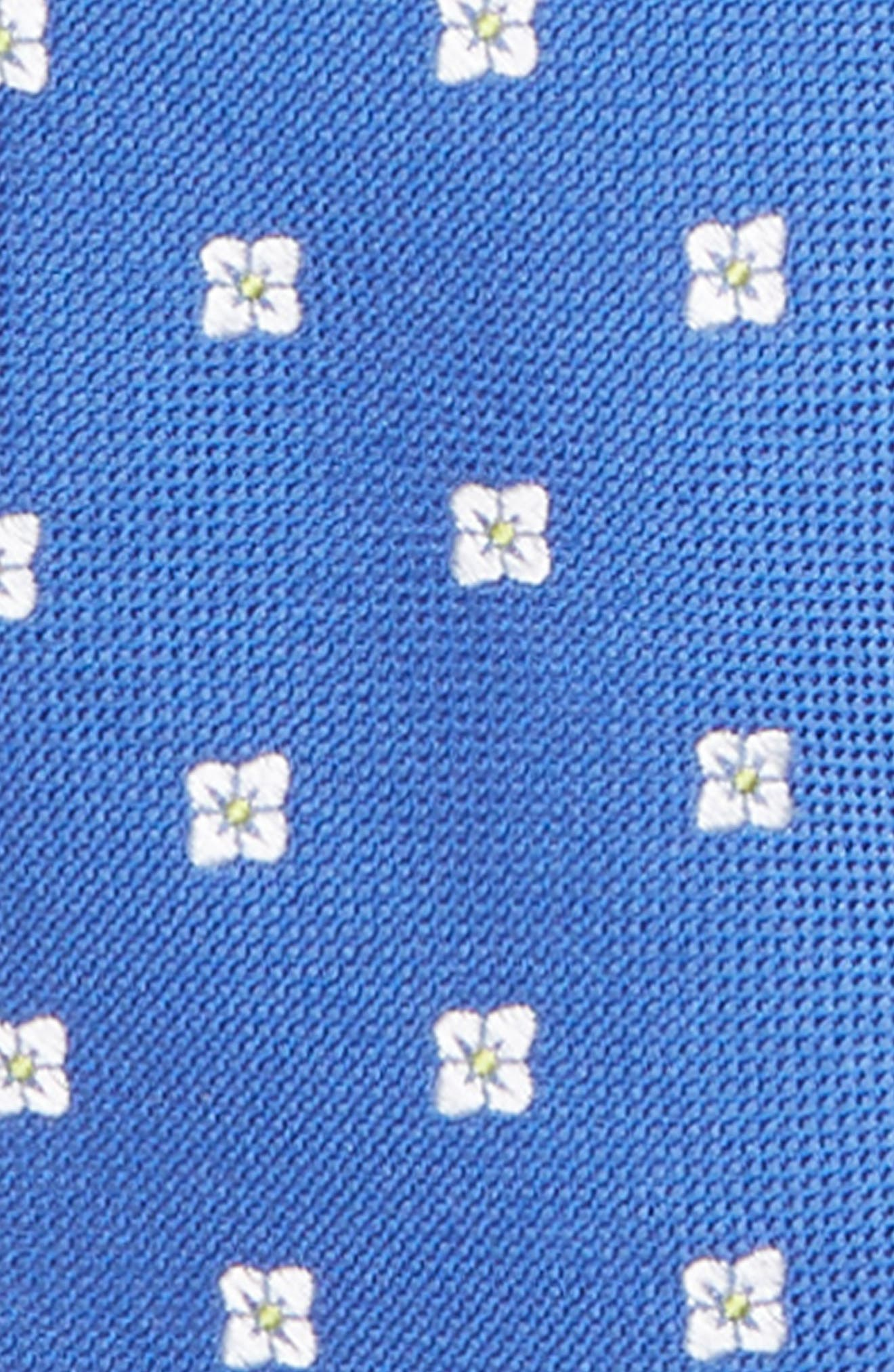NORDSTROM,                             Floral Silk Zip Tie,                             Alternate thumbnail 2, color,                             431