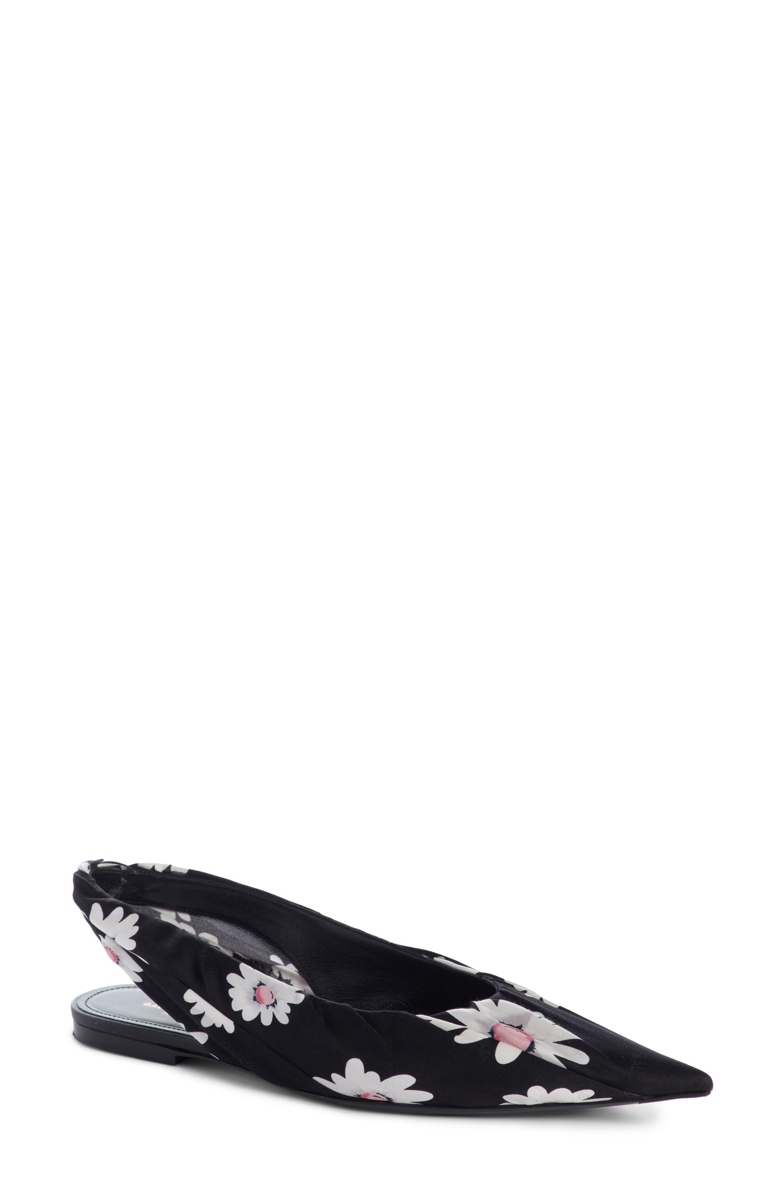 Pointy Toe Slingback Flat,                             Main thumbnail 1, color,                             011