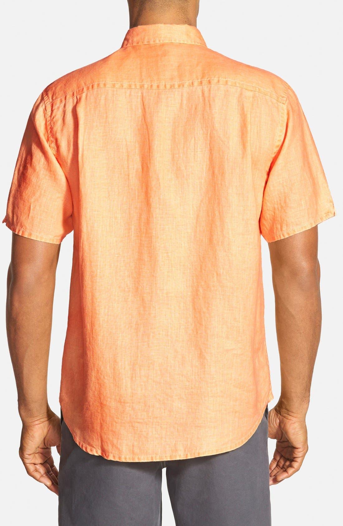 Seaglass Breezer Short Sleeve Linen Sport Shirt,                             Alternate thumbnail 29, color,