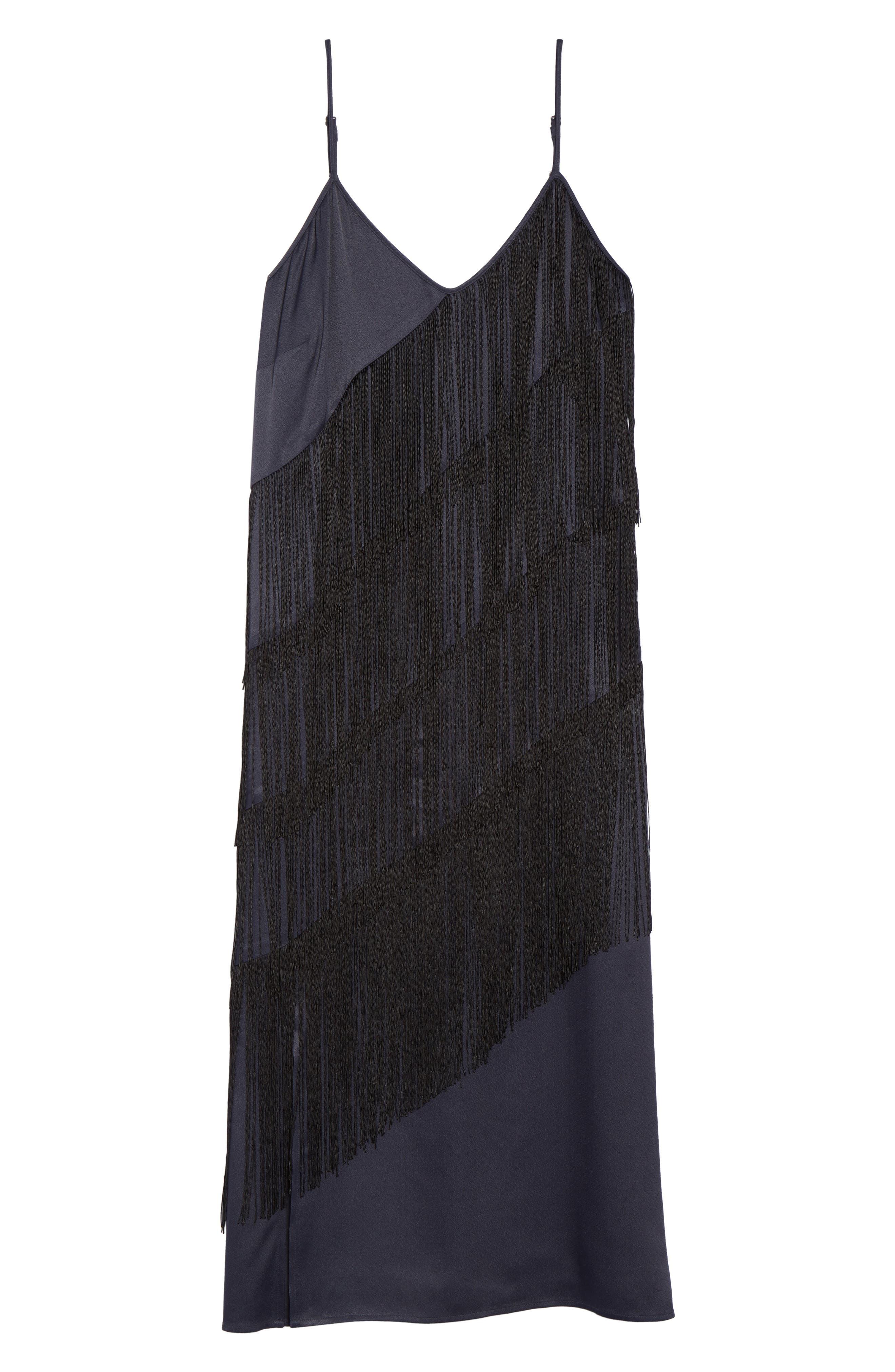 Fringed Up Midi Dress,                             Alternate thumbnail 6, color,                             490
