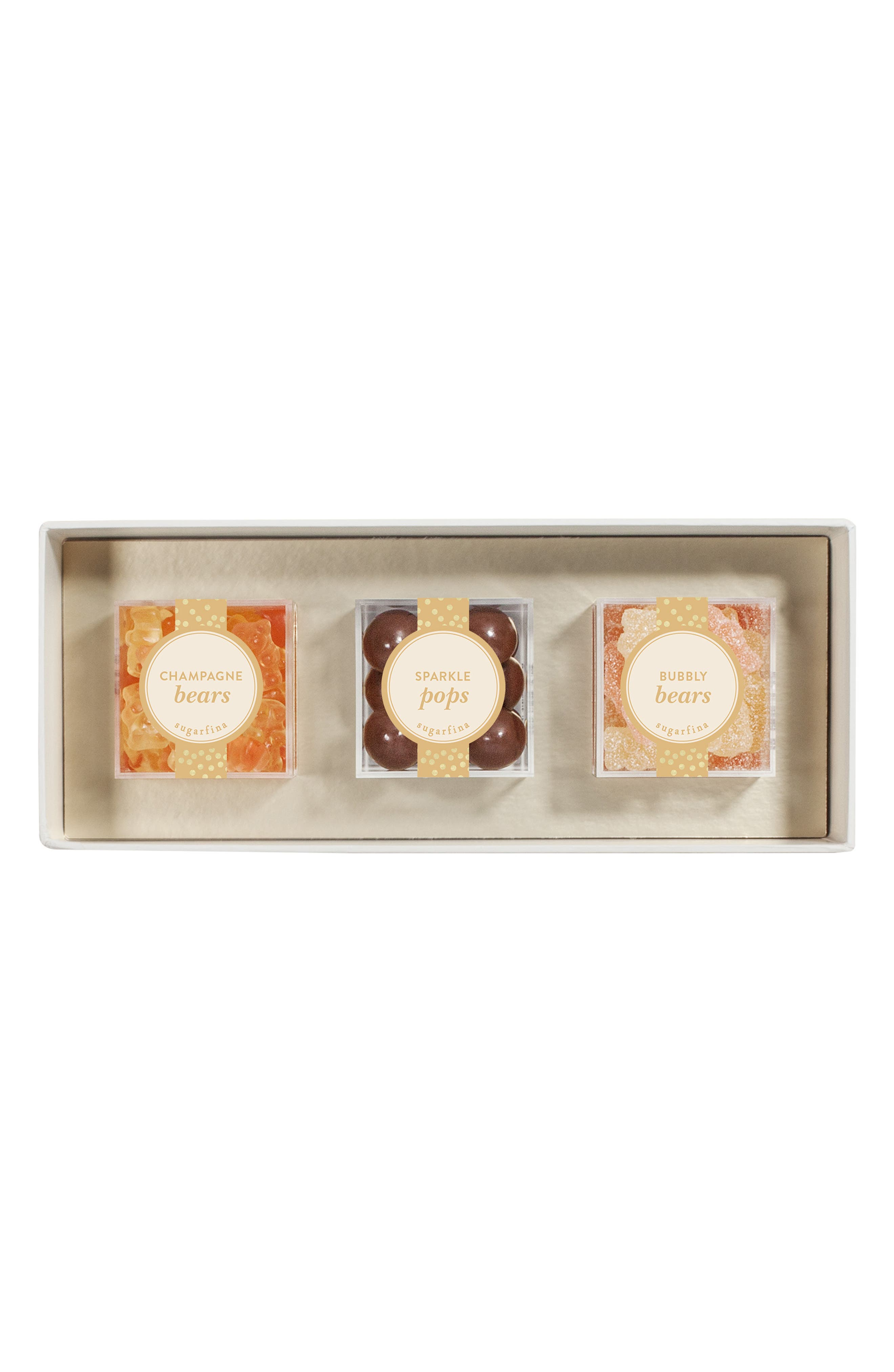 Sweet & Sparkling Set of 3 Candy Boxes, Main, color, METALLIC GOLD