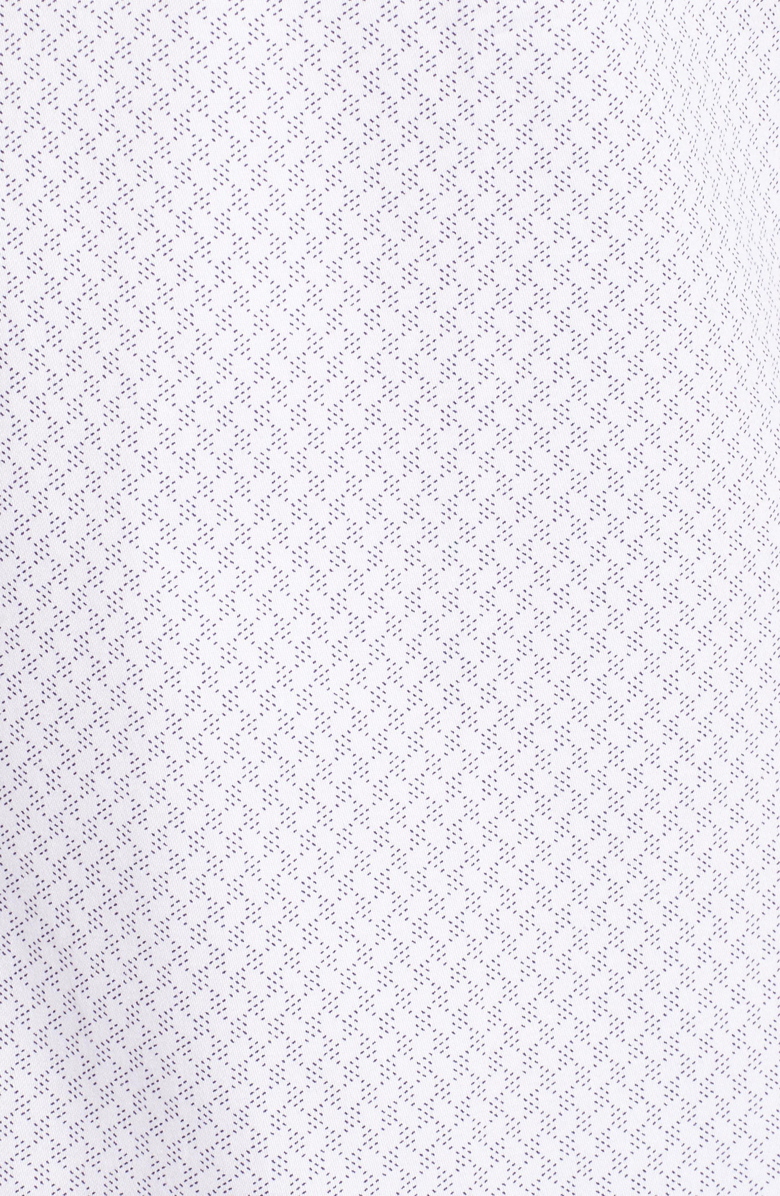 Modern Slim Fit Print Sport Shirt,                             Alternate thumbnail 5, color,                             110