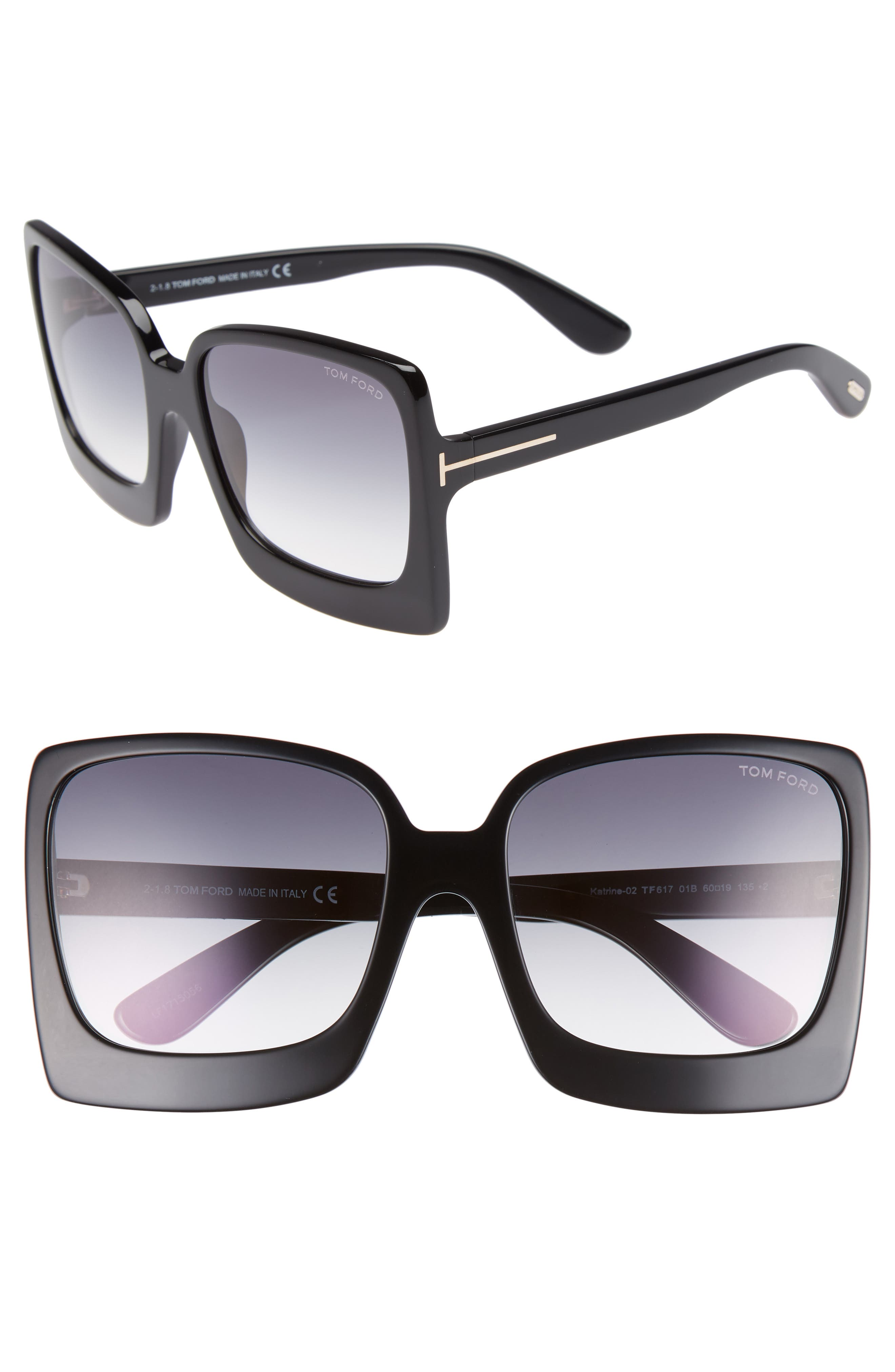 Katrine 60mm Sunglasses,                             Main thumbnail 1, color,                             012