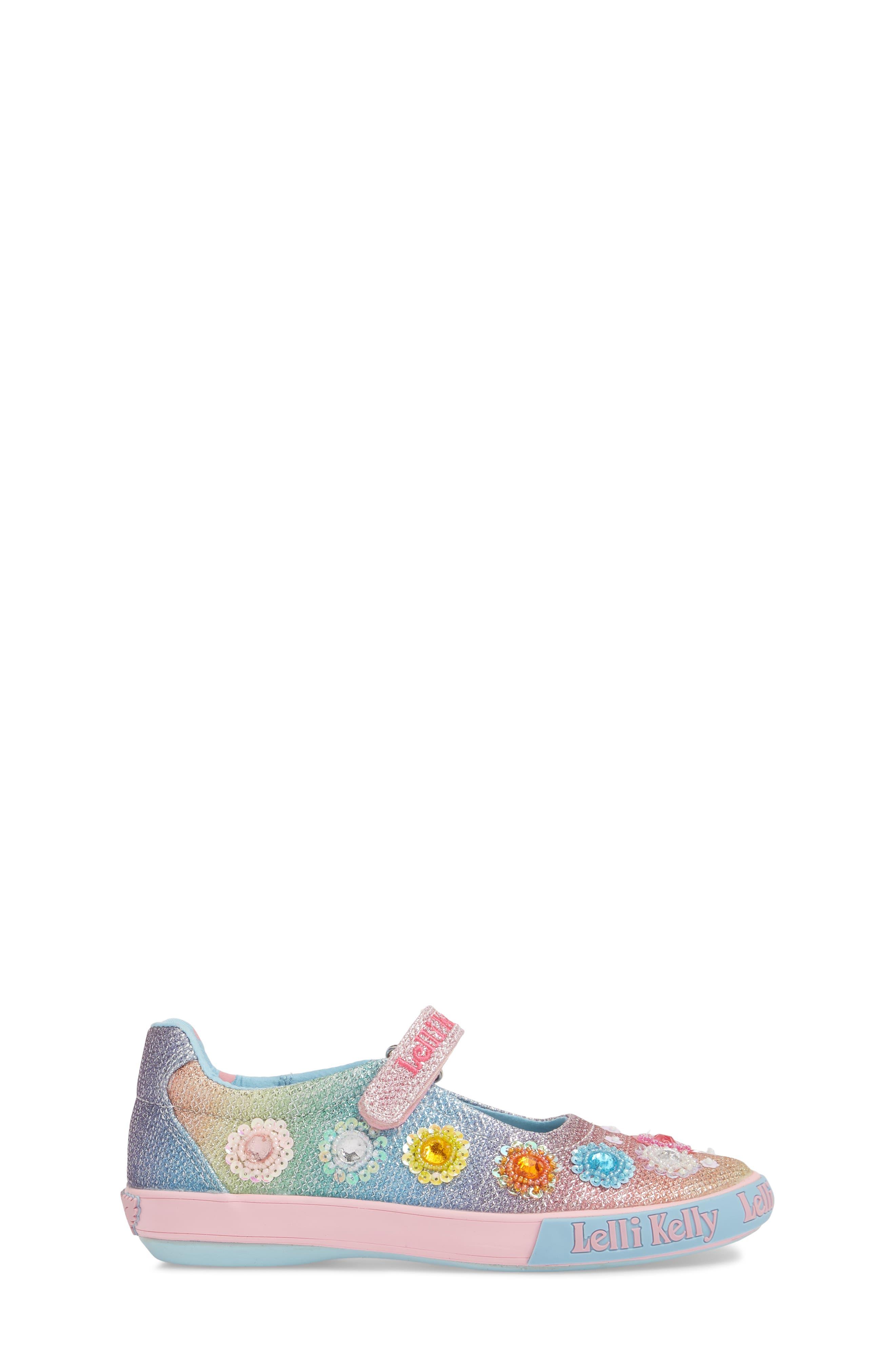 LELLI KELLY,                             Beaded Mary Jane Sneaker,                             Alternate thumbnail 3, color,                             BLUE
