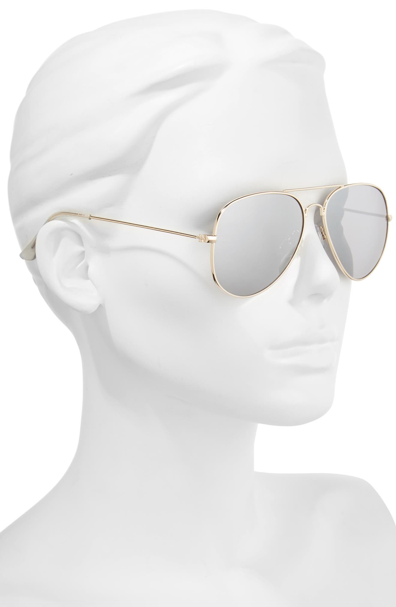 Mirrored Aviator 57mm Sunglasses,                             Alternate thumbnail 20, color,
