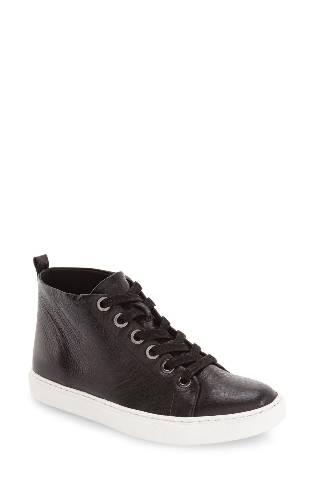 'Kaleb' High Top Sneaker,                             Main thumbnail 1, color,                             001