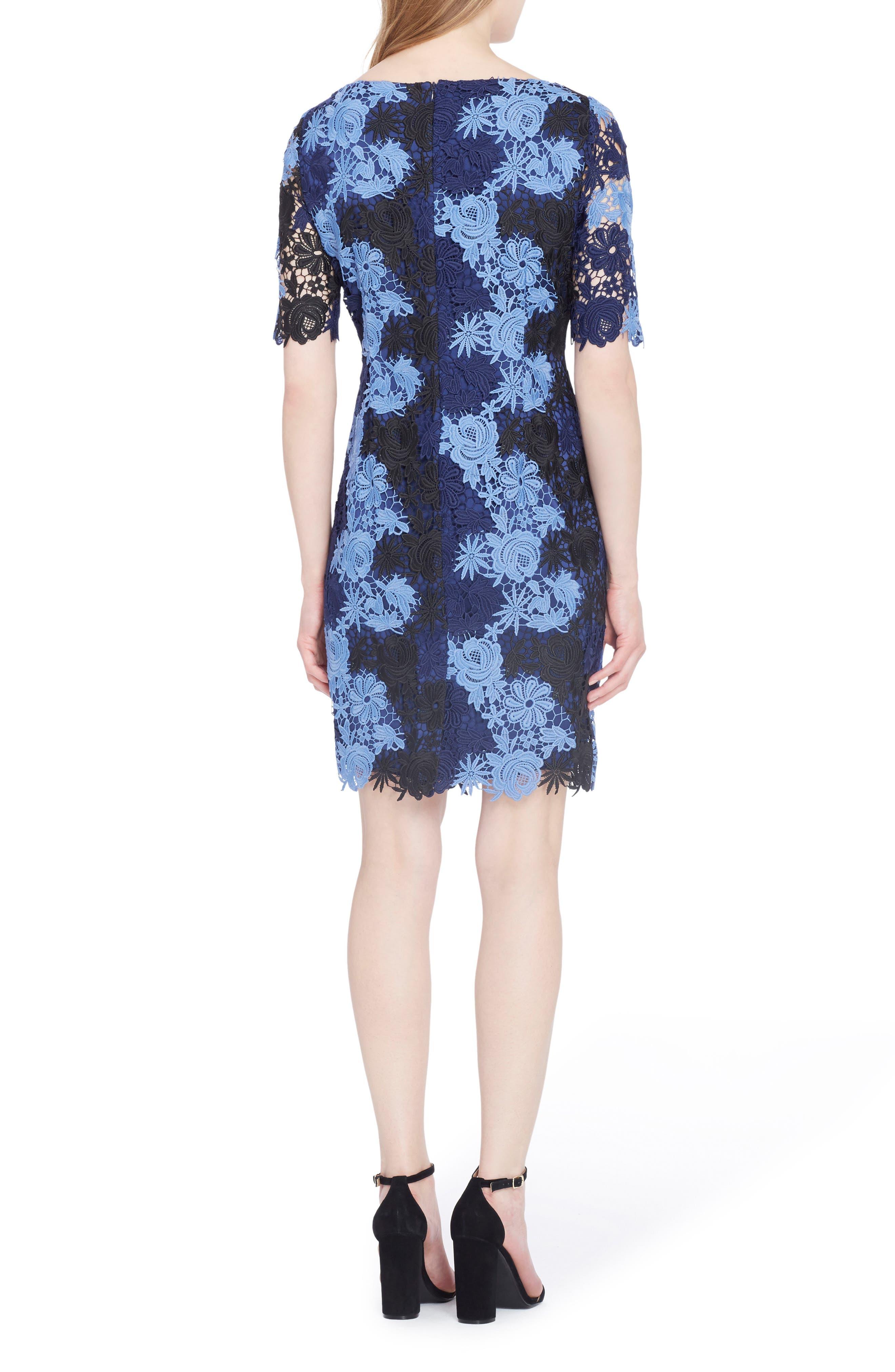 Lace Sheath Dress,                             Alternate thumbnail 2, color,                             498
