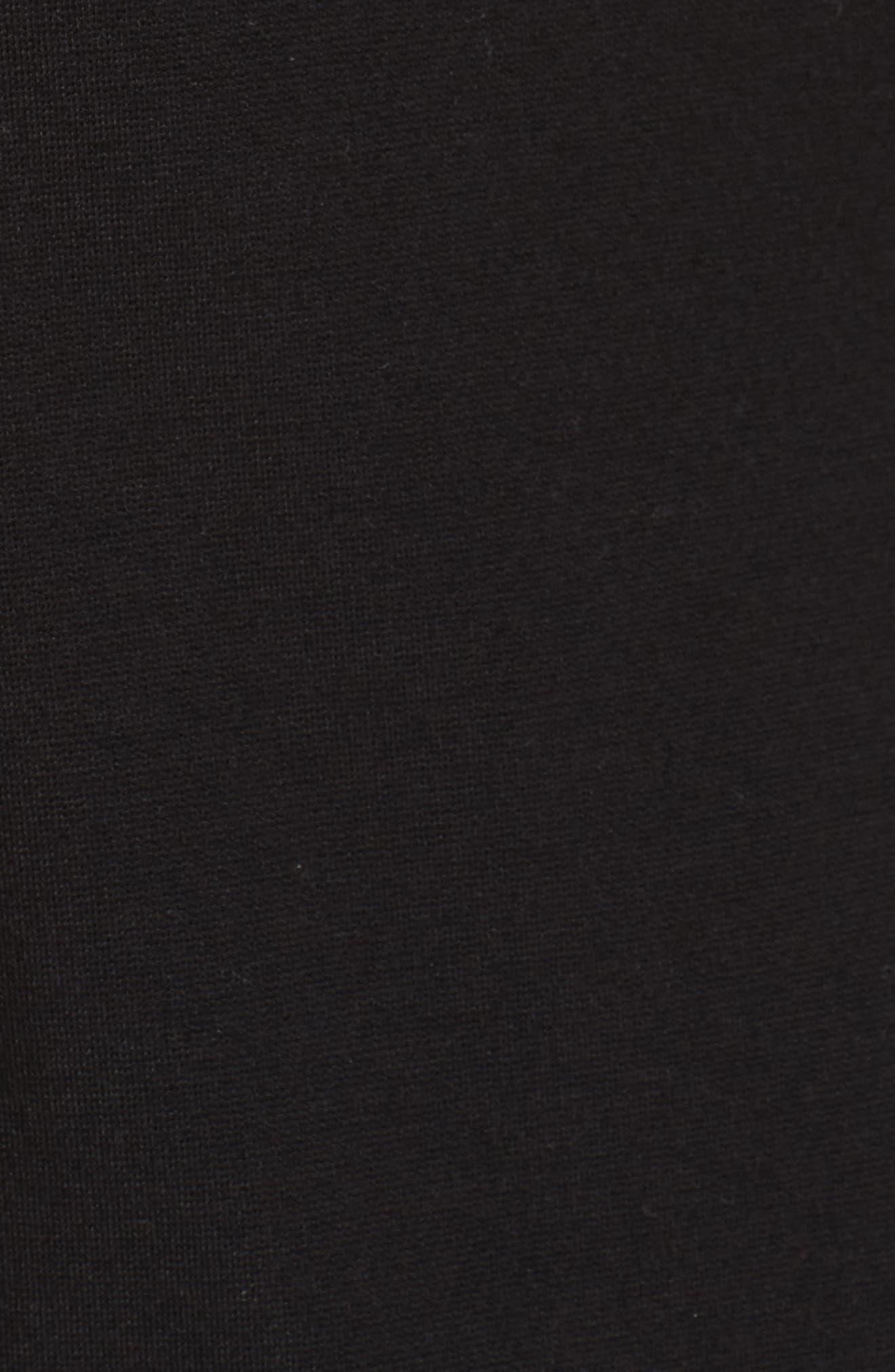 Lace Trim Sheath Dress,                             Alternate thumbnail 5, color,                             001