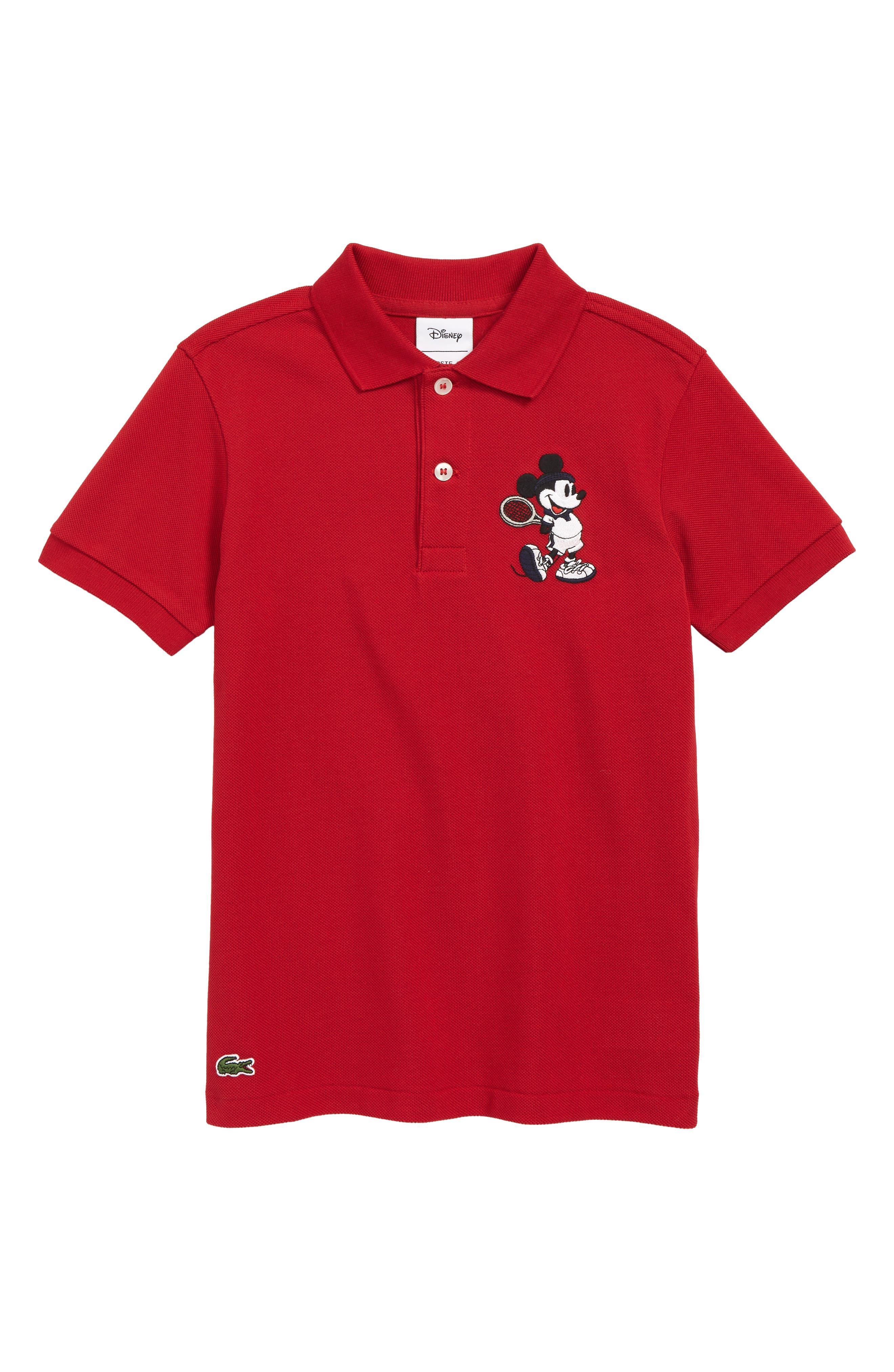 Disney Tennis Polo Shirt, Main, color, LIGHTHOUSE RED