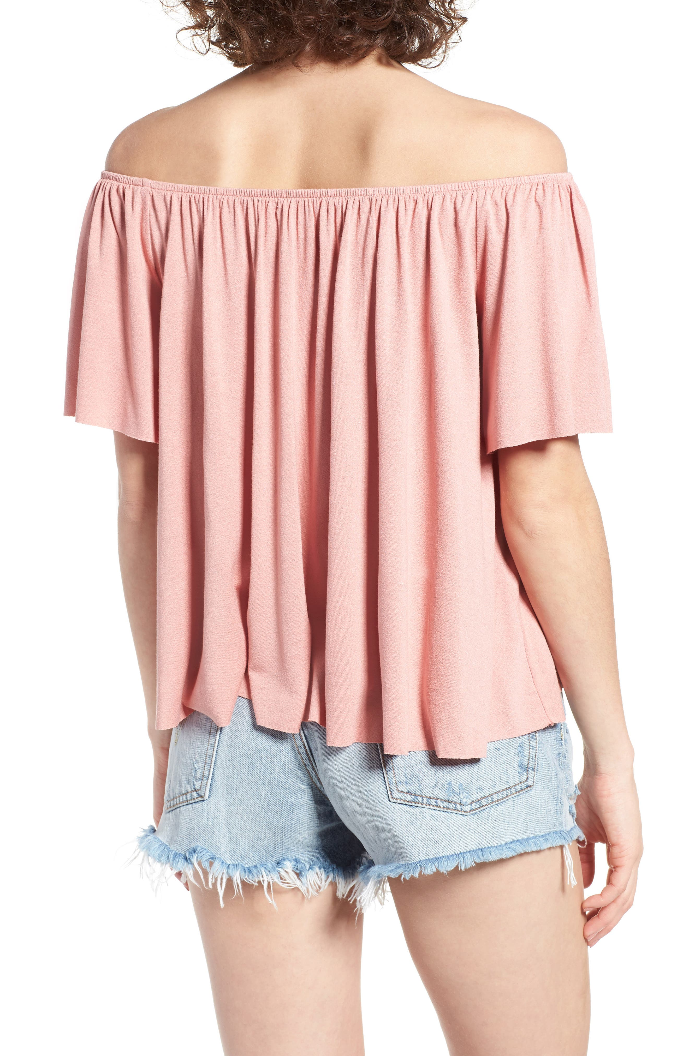 Off the Shoulder Top,                             Alternate thumbnail 16, color,