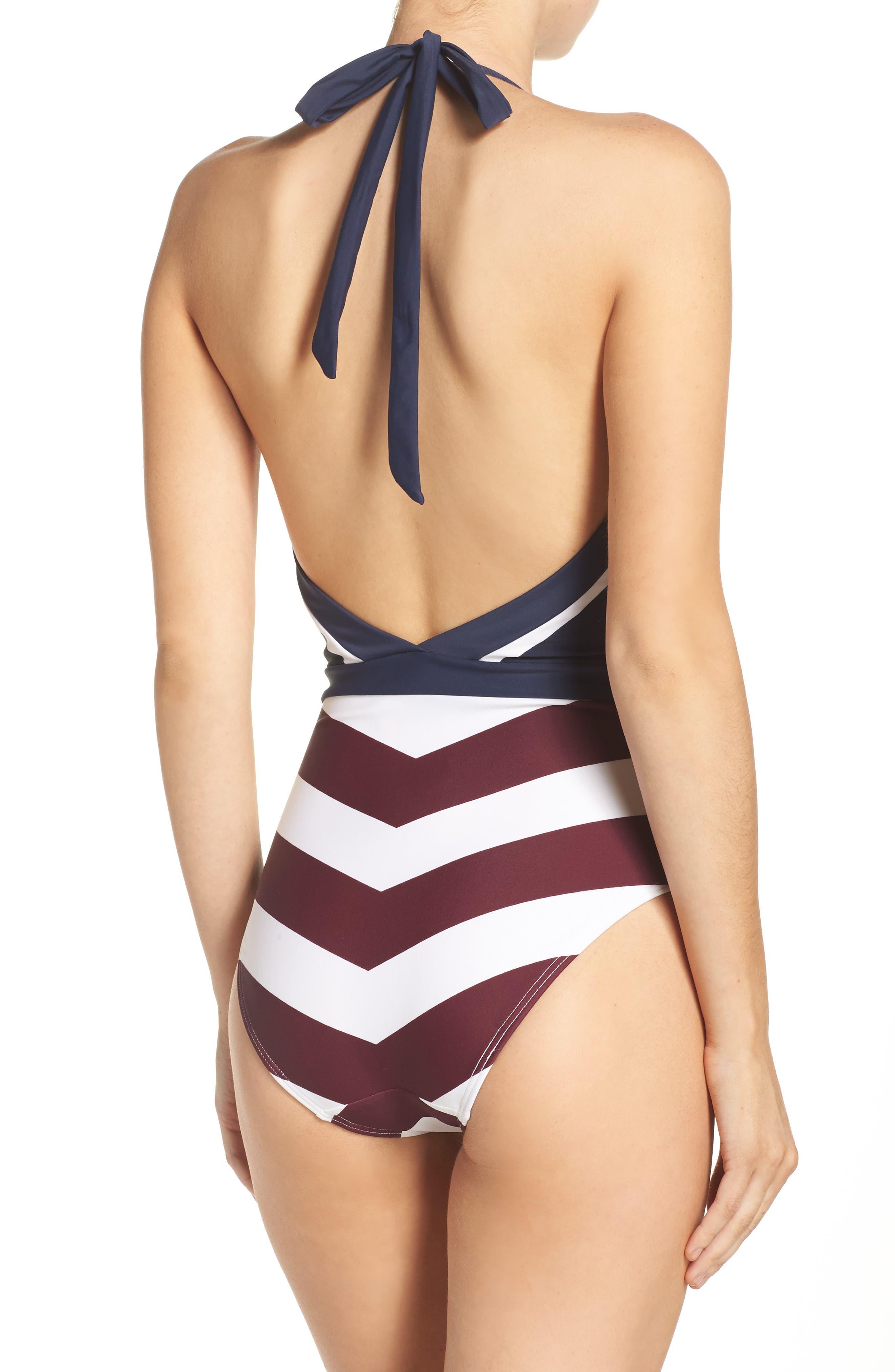 Rowing Stripe One-Piece Swimsuit,                             Alternate thumbnail 2, color,                             410