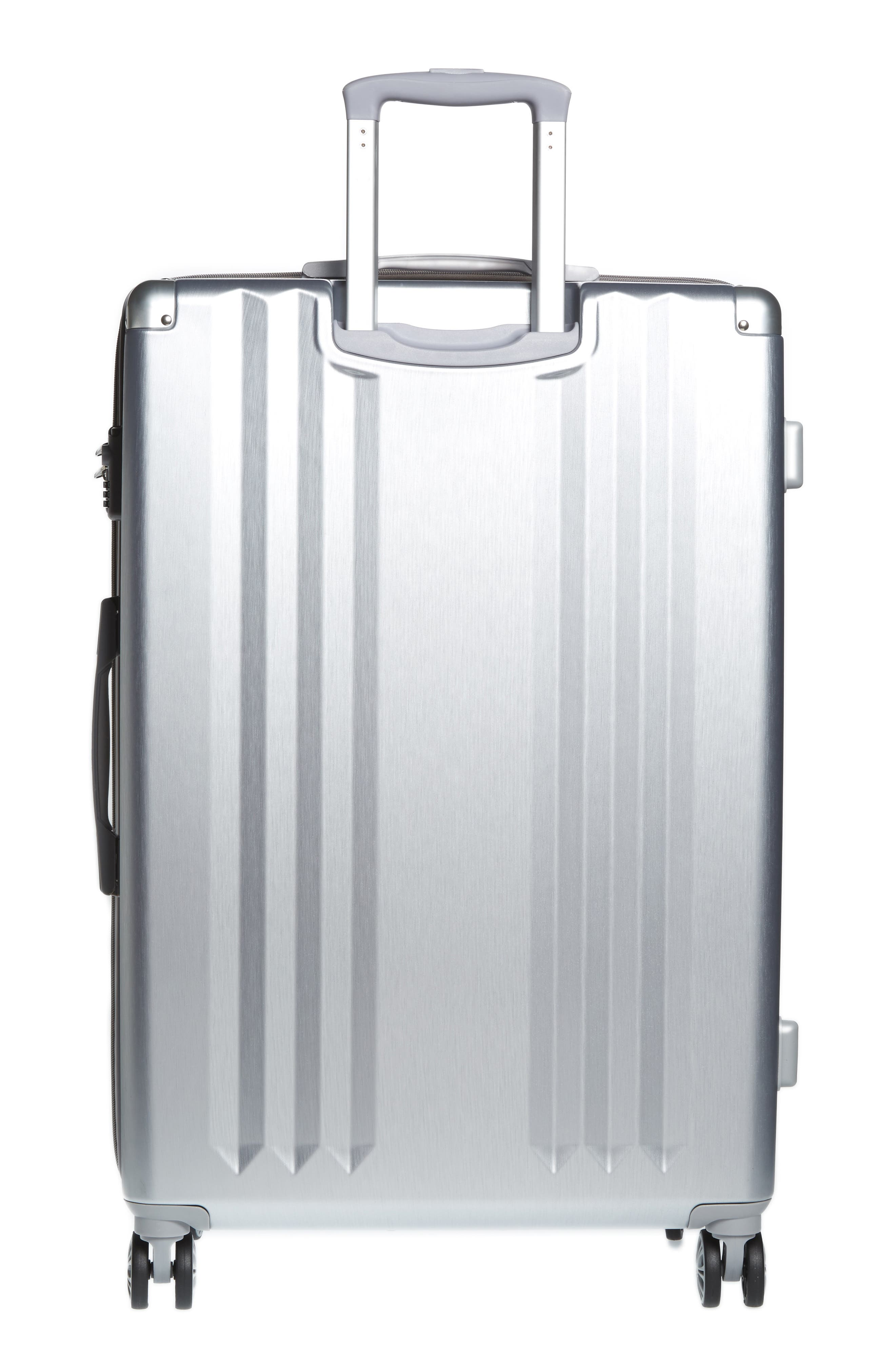 Ambeur 2-Piece Spinner Luggage Set,                             Alternate thumbnail 4, color,                             WHITE