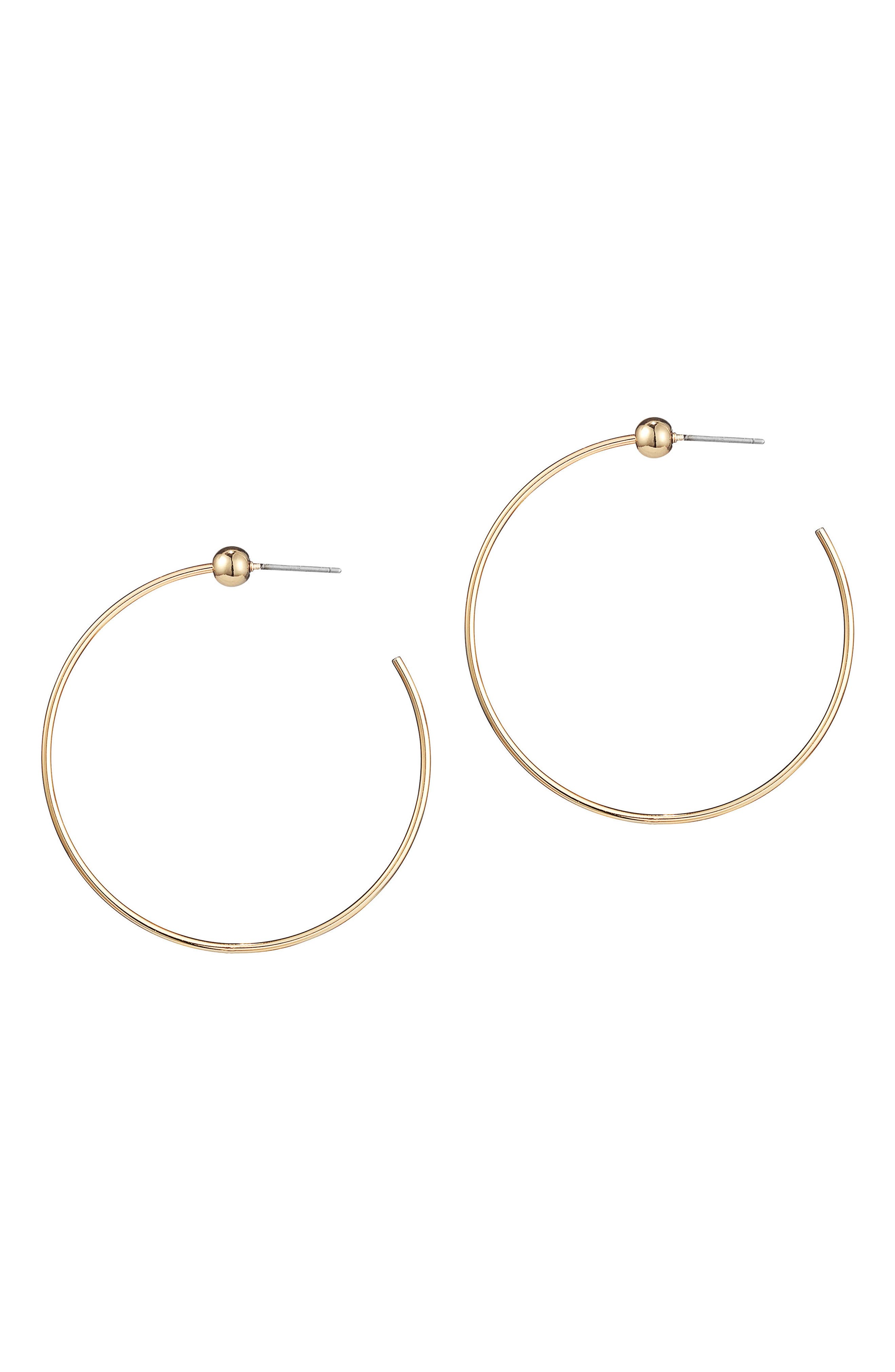 Icon Small Hoop Earrings,                         Main,                         color, GOLD