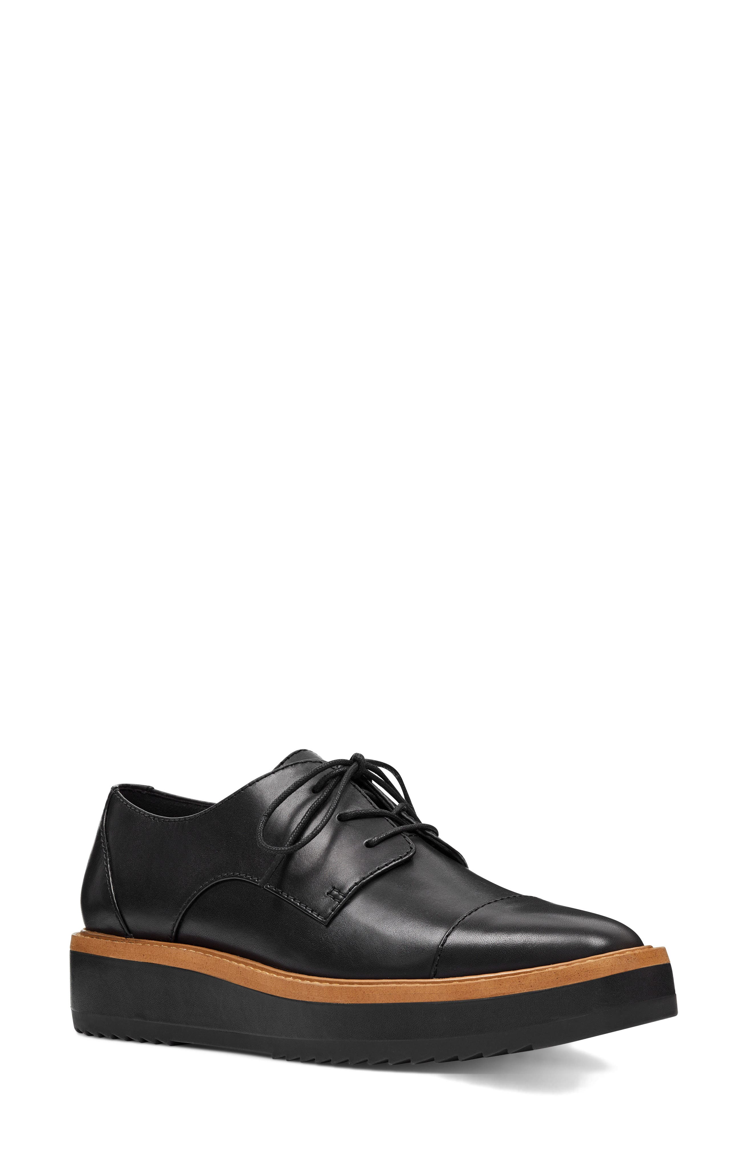 Vada Oxford,                             Main thumbnail 1, color,                             BLACK LEATHER