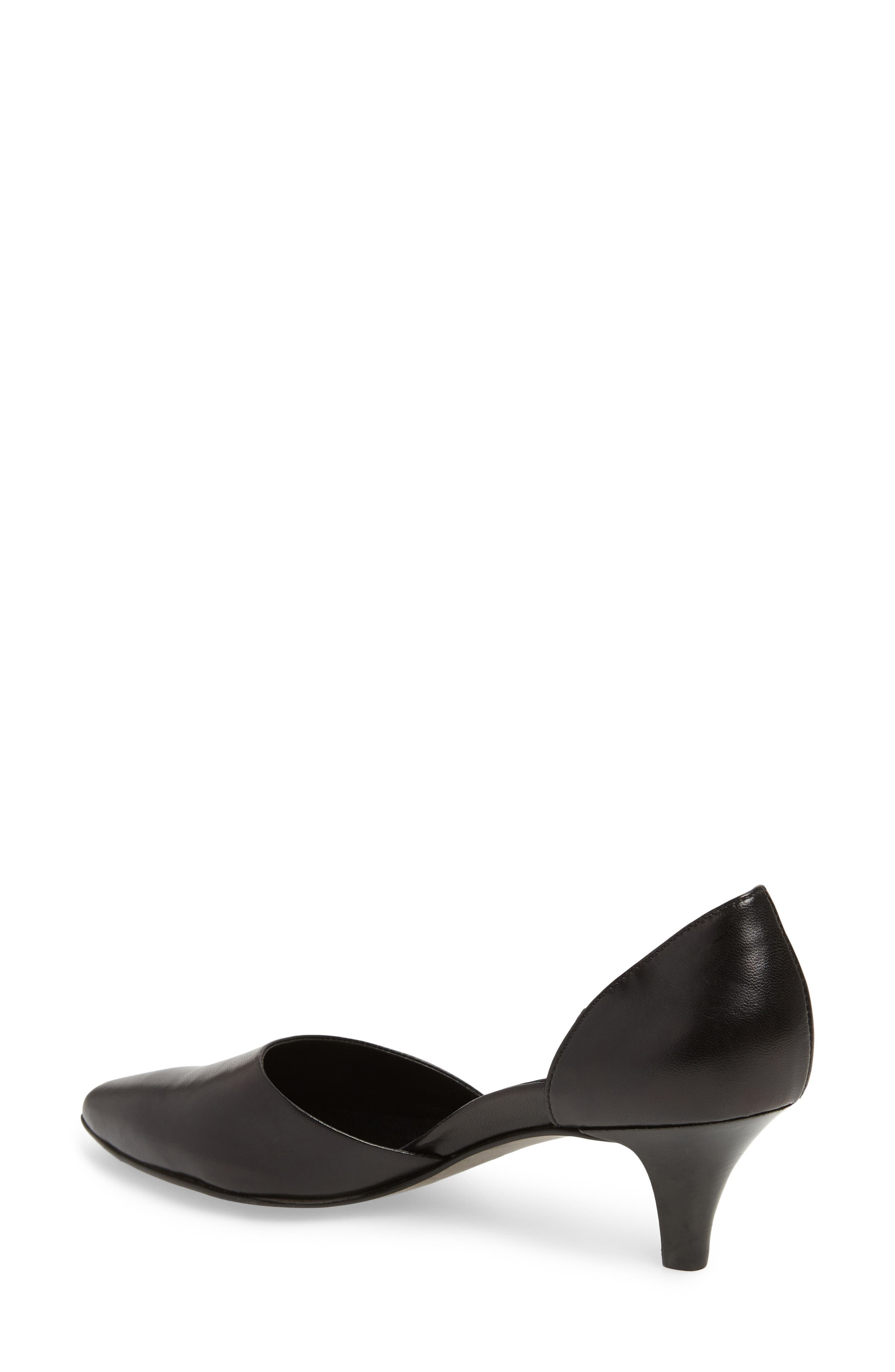 Shey Pointy Toe Pump,                             Alternate thumbnail 2, color,                             BLACK LEATHER