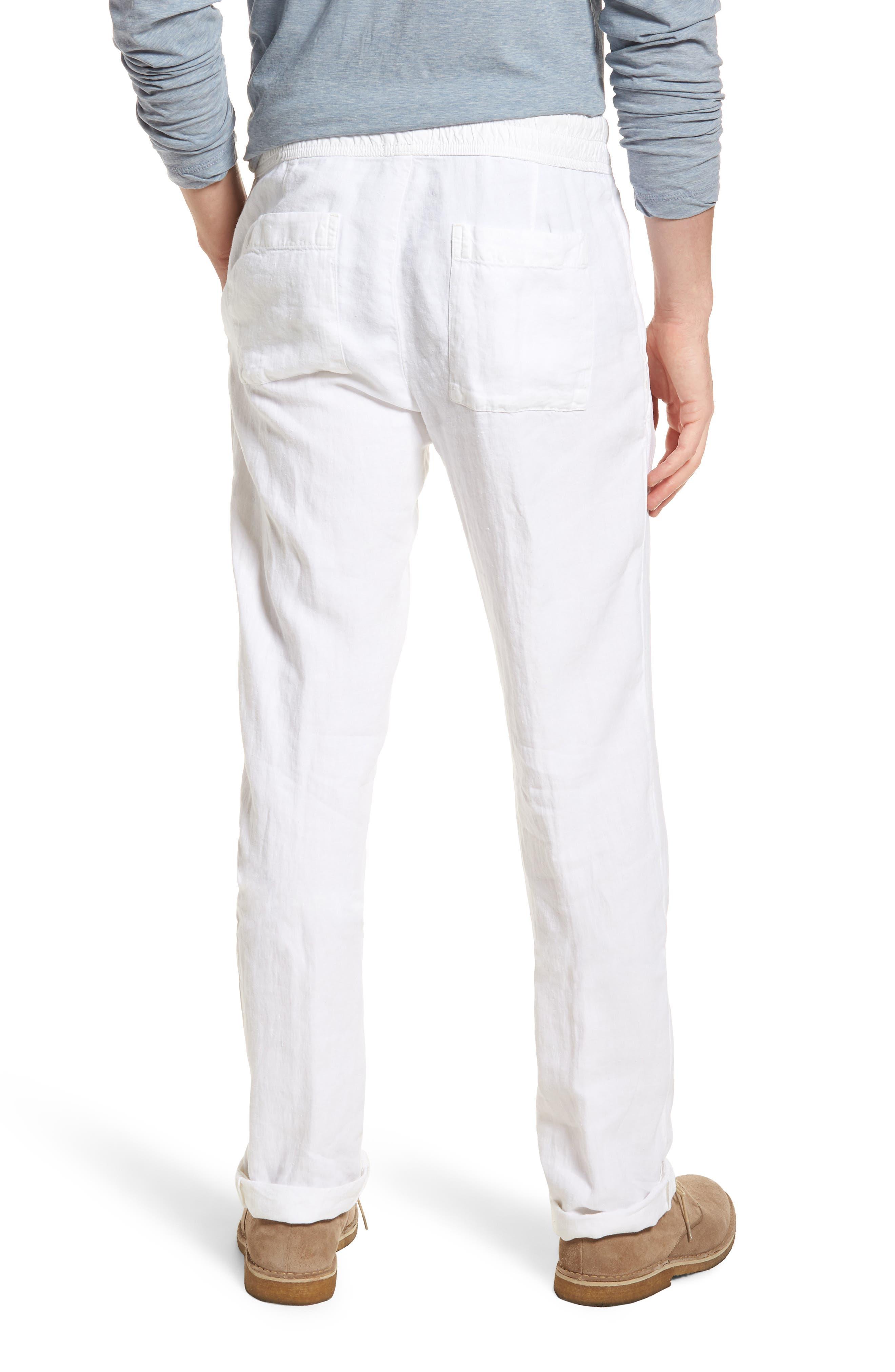 Slim Fit Linen Utility Pants,                             Alternate thumbnail 2, color,                             100